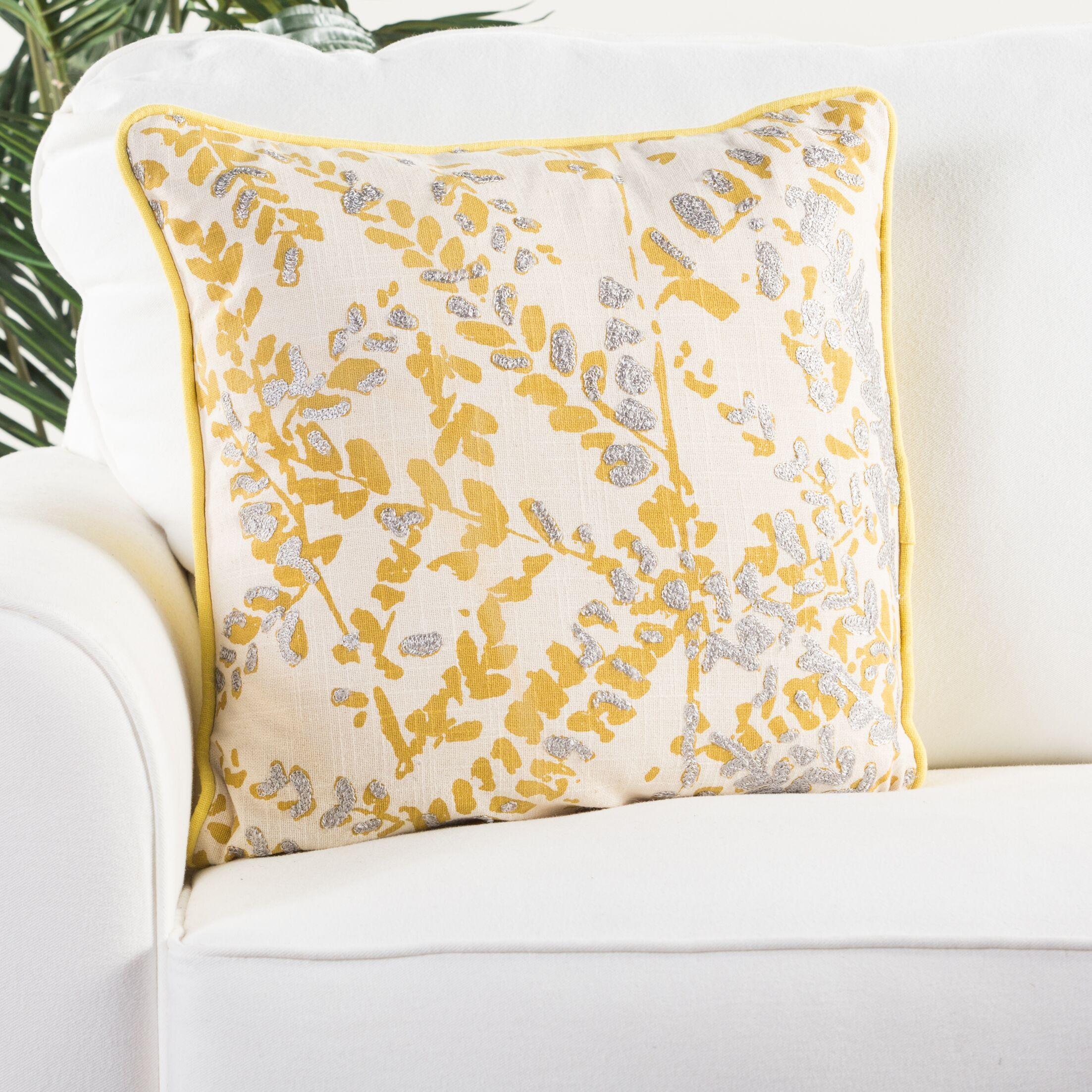Alidade Cotton Throw Pillow