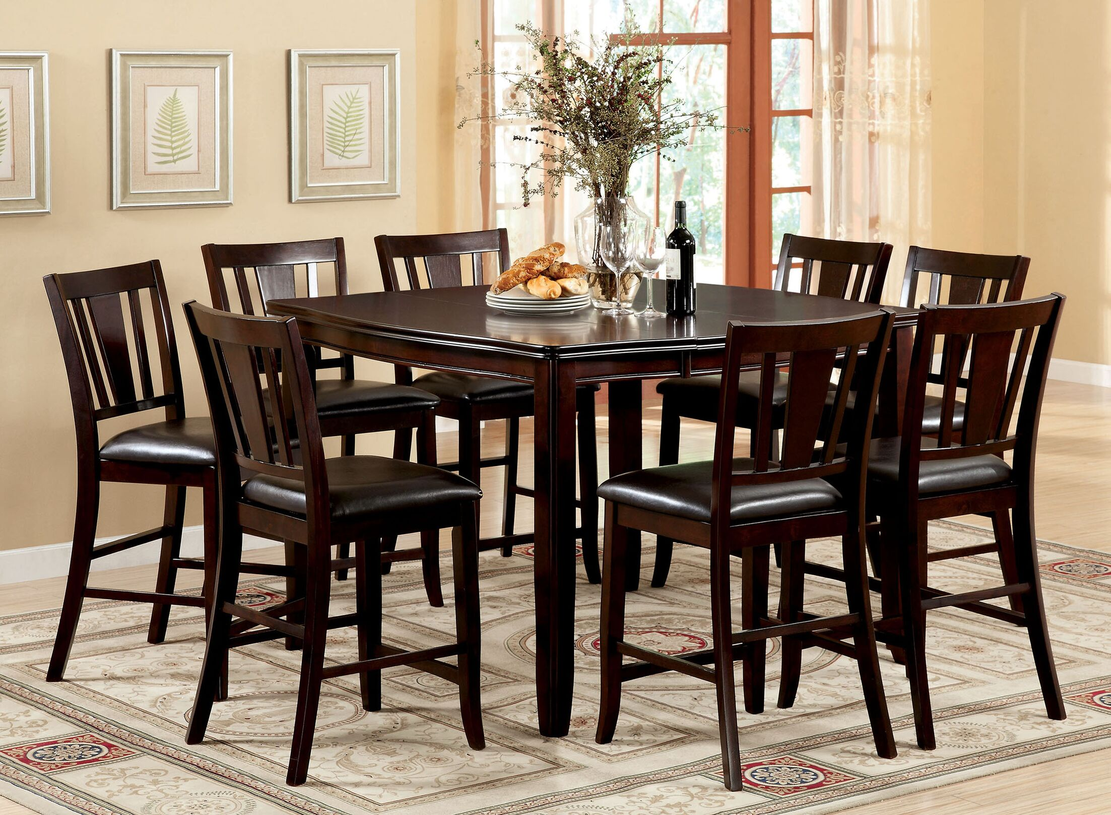 Dining Table Sets Fritz Jimmy 9 Piece Counter Height Dining Set