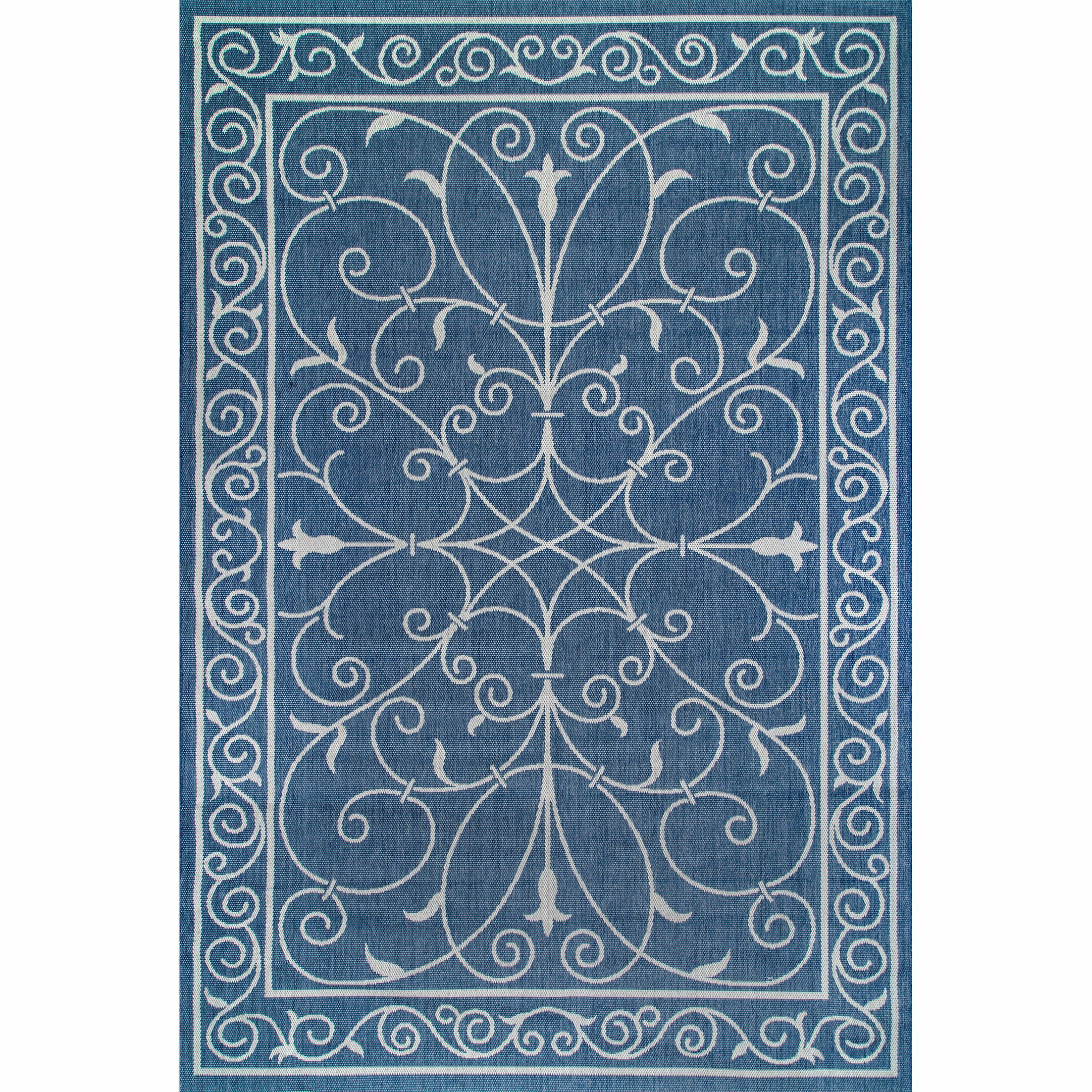 Mikhail Blue Outdoor Area Rug Rug Size: Rectangle 7'6
