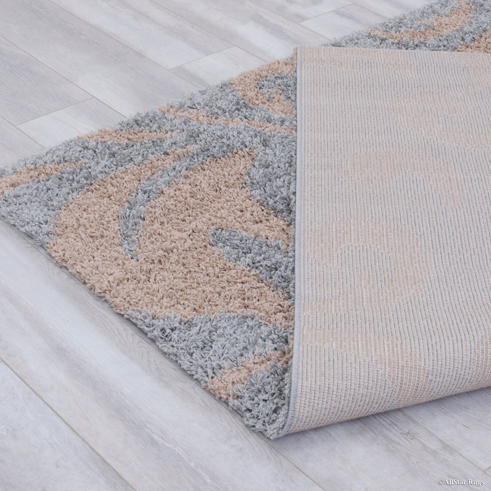 Finchley High Pile Posh Shaggy Paisley Printed Silver Area Rug Rug Size: 7'9
