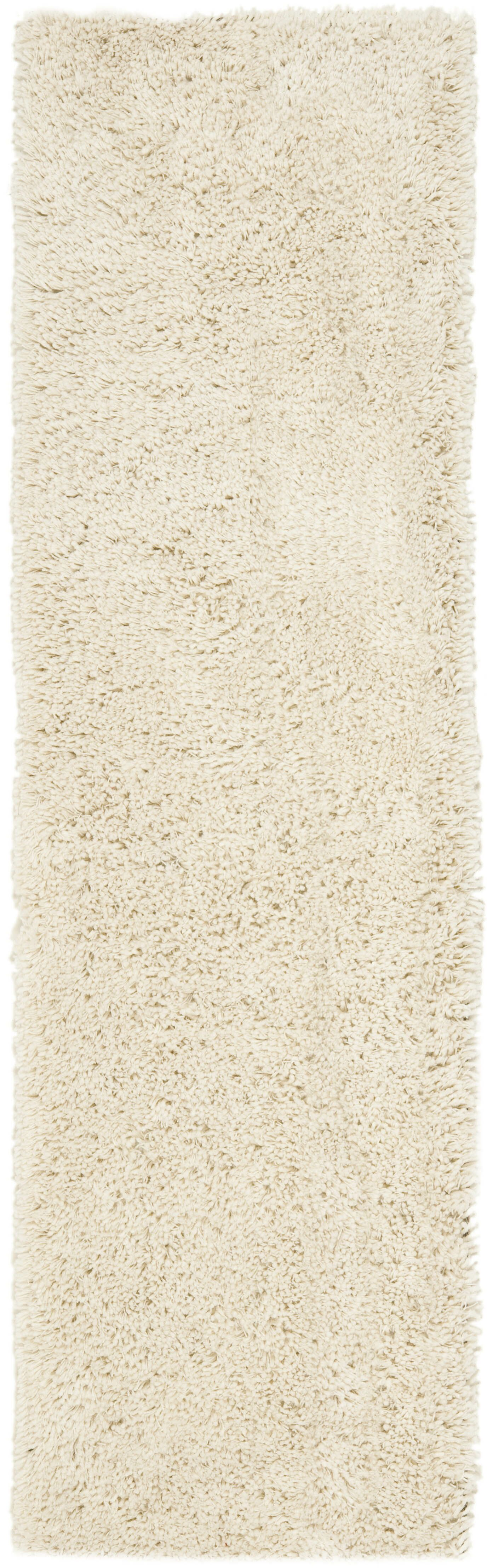 Kirtley White Shag Area Rug Rug Size: Runner 2'3