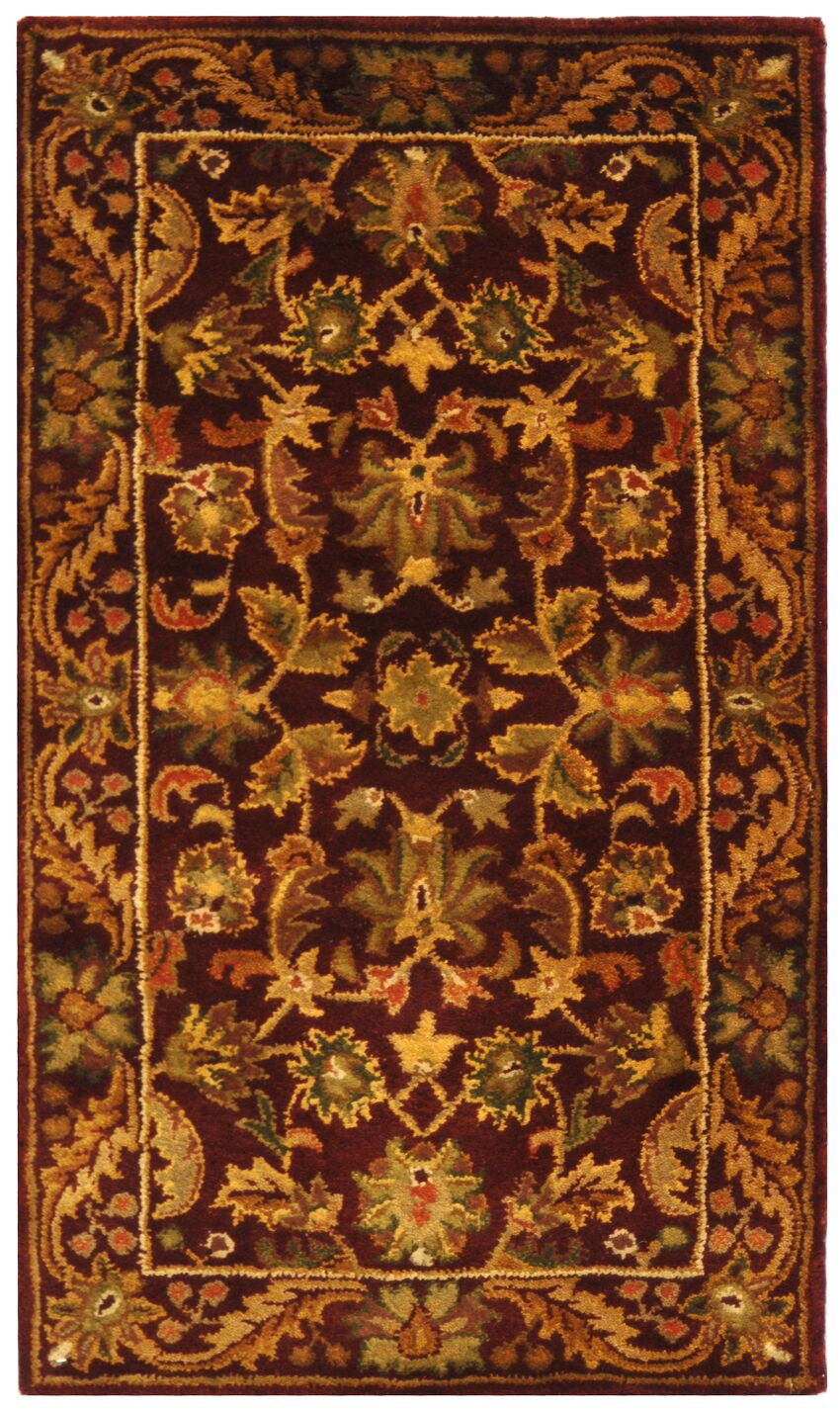 Wine & Gold Area Rug Rug Size: Rectangle 8'3
