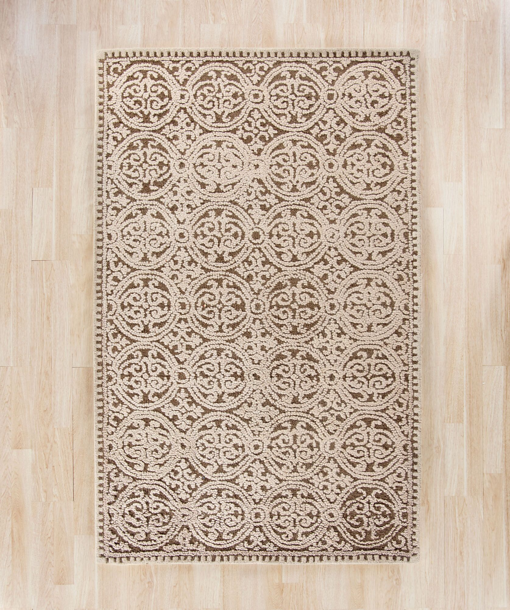Sibanye Hand-Tufted Tan Area Rug Rug Size: Runner 2'6