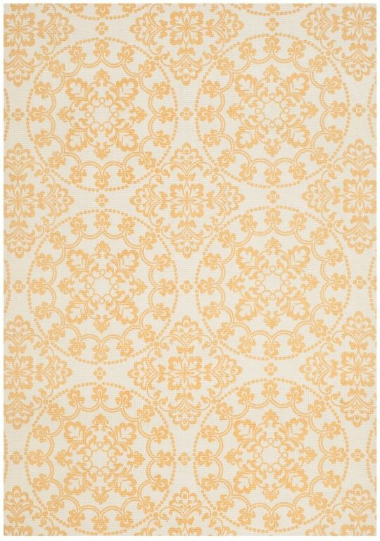 Charing Cross Hand-Loomed Natural/Gold Area Rug Rug Size: Rectangle 5' x 7'