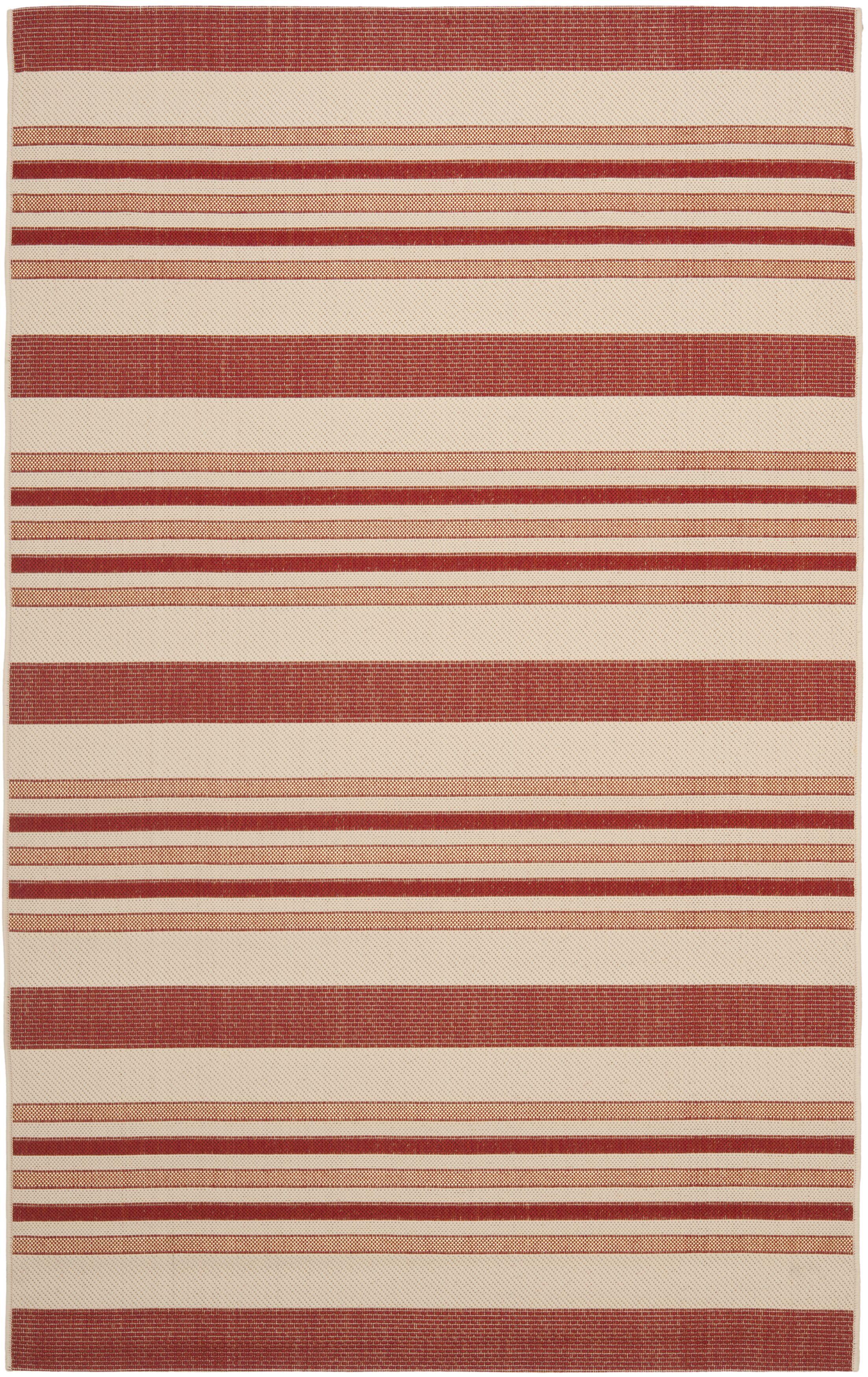 Octavius Beige / Red Indoor / Outdoor Area Rug Rug Size: Rectangle 9' x 12'