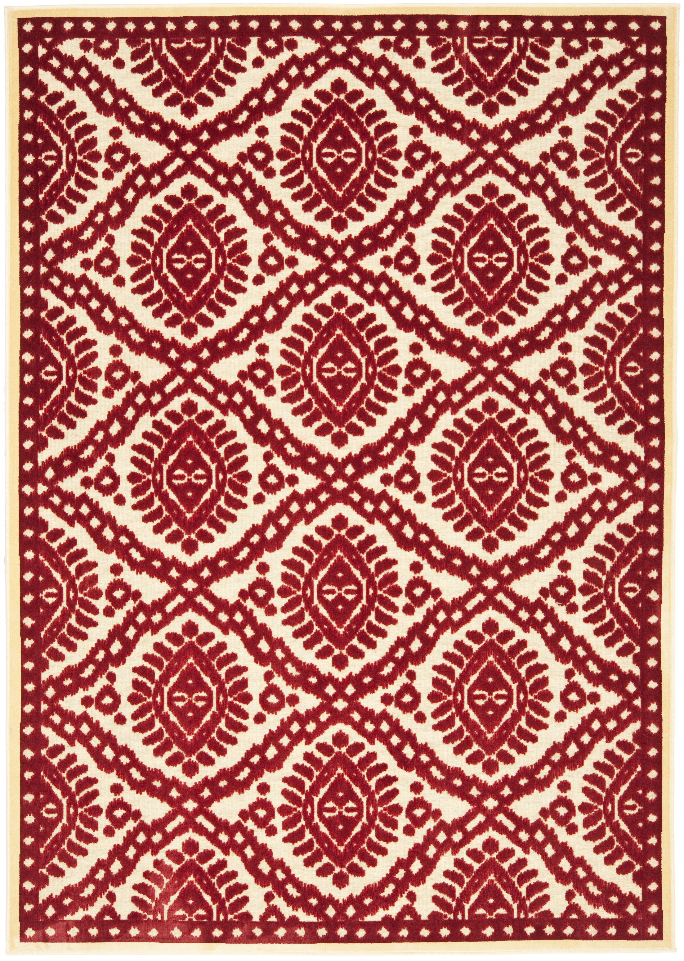Hand-Woven Red Area Rug Rug Size: Rectangle 8' x 11'2