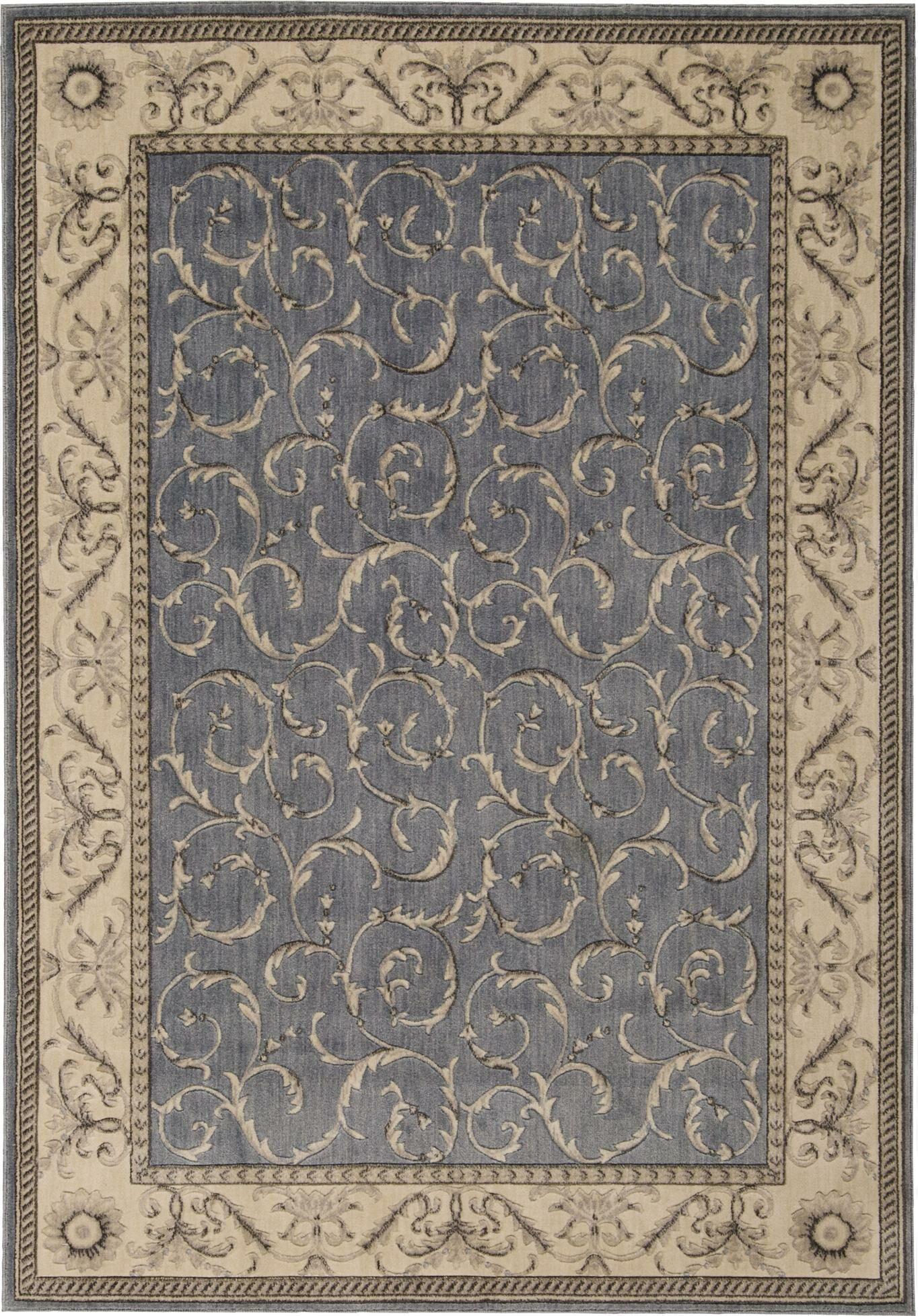 Godfrey Light Blue/Beige Area Rug Rug Size: Rectangle 2' x 2'9