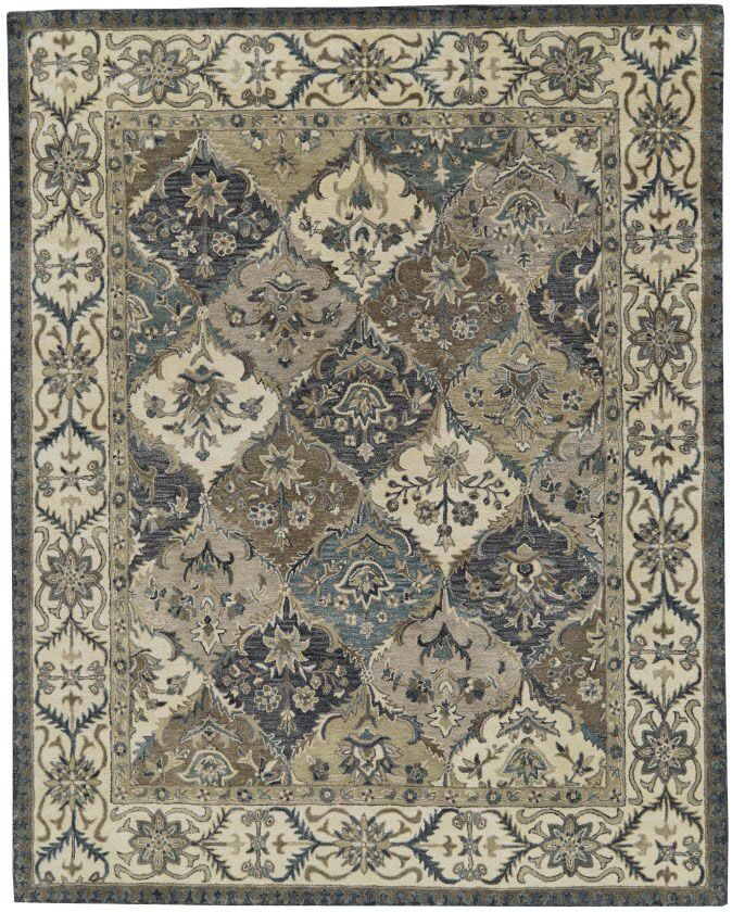 Corsham Hand-Tufted Wool Brown/Beige Area Rug Rug Size: Rectangle 3'6