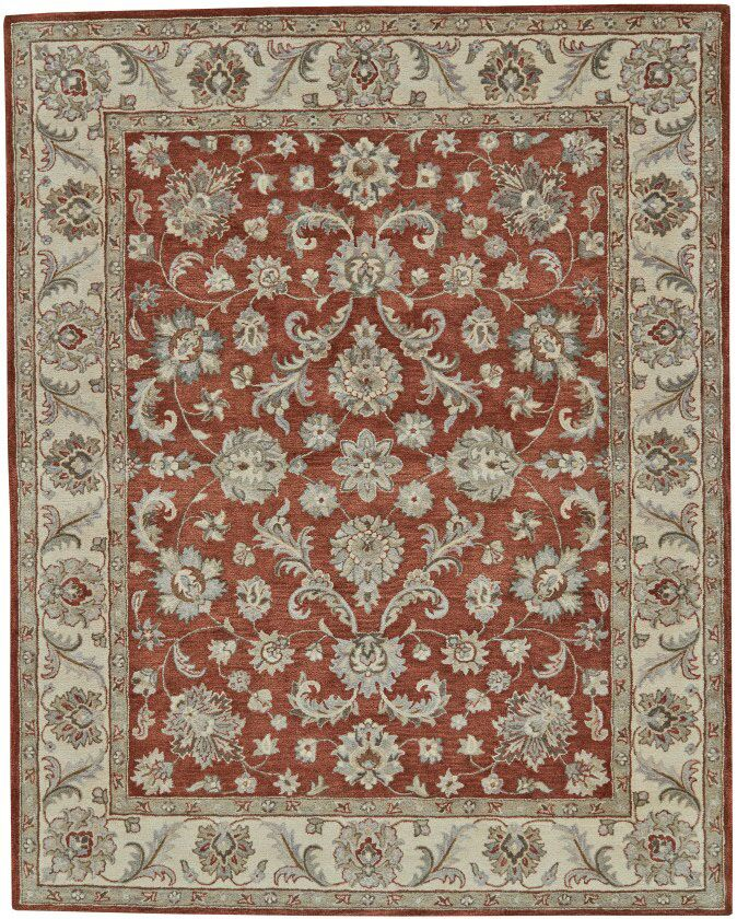 Corsham Hand Tufted Rust Area Rug Rug Size: Rectangle 9'6