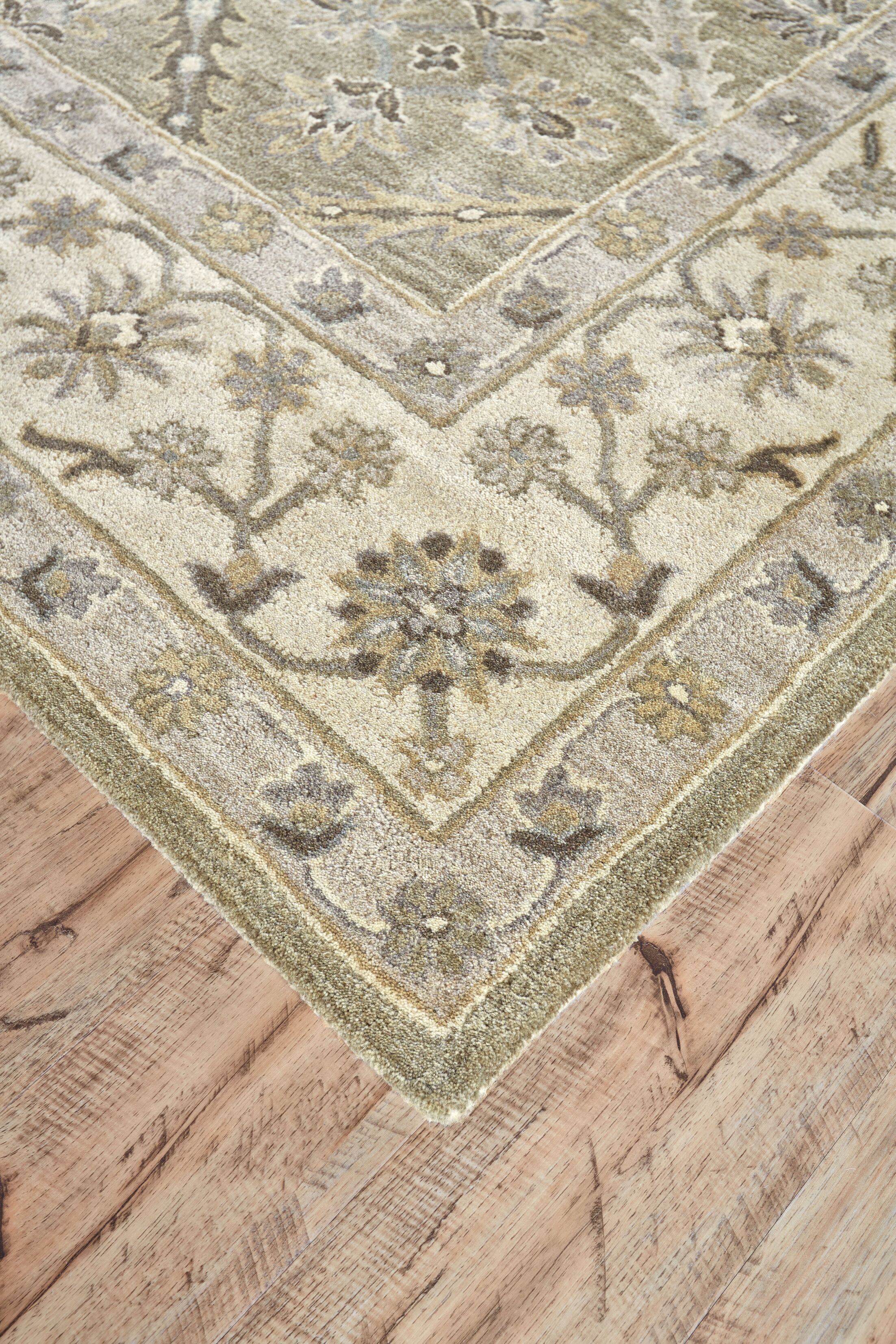 Corsham Hand-Tufted Sage Area Rug Rug Size: Runner 2'6