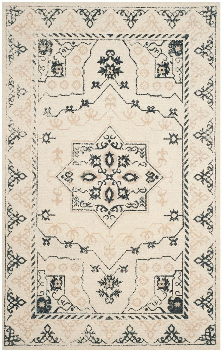 Driffield Hand-Tufted Ivory/Charcoal Area Rug Rug Size: Rectangle 8' x 10'