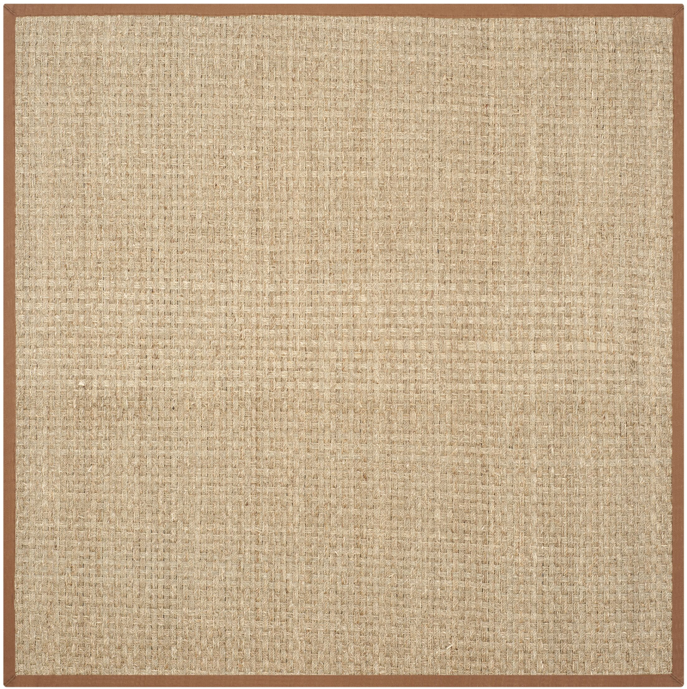 Dufour Hand-Woven Natural/Brown Area Rug Rug Size: Square 10'