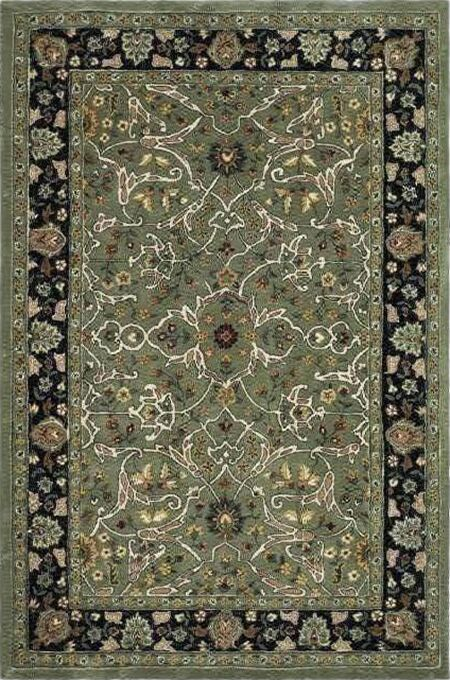 Driffield Hand-Hooked Green/Black Area Rug Rug Size: Rectangle 4' x 6'