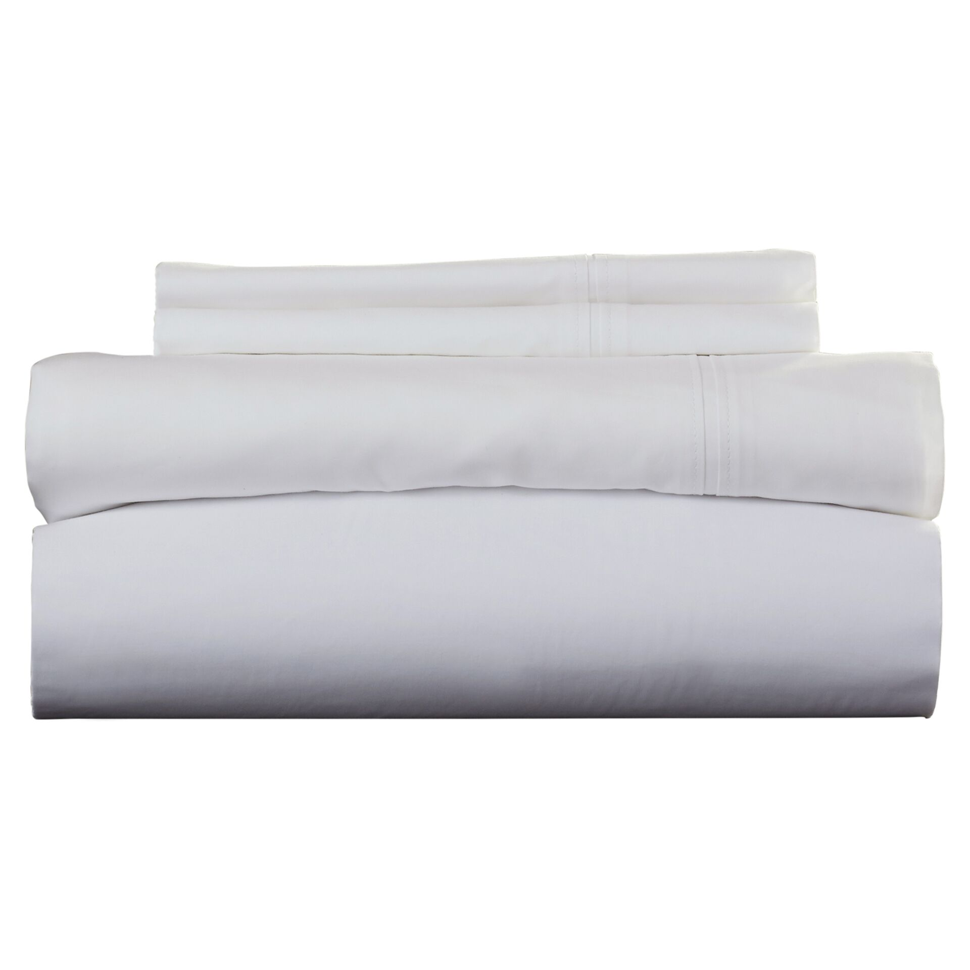Harristown 350 Thread Count Egyptian 100% Cotton Extra Deep Pocket Sheet Set Size: Full, Color: White