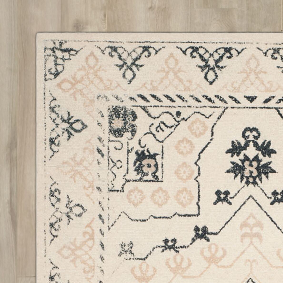 Driffield Hand-Tufted Ivory/Charcoal Area Rug Rug Size: Square 6' x 6'