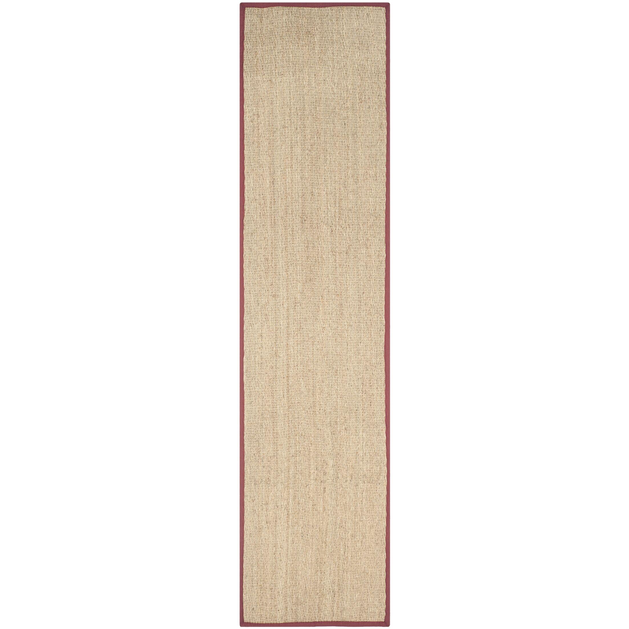 Eldert Natural Fiber Hand-Woven Brown/Tan/Red Area Rug Rug Size: Runner 2'6