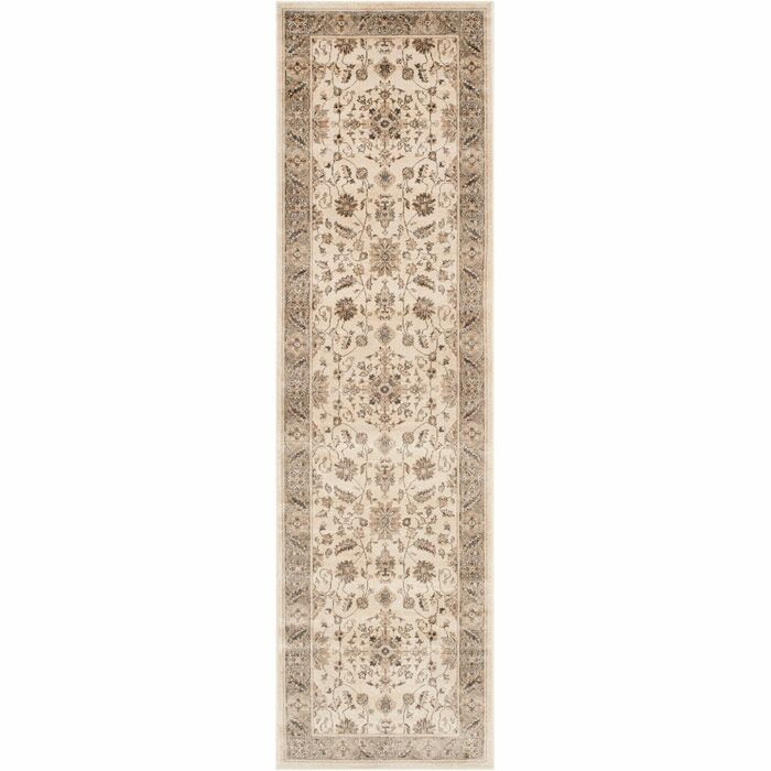 Tuller Stone & Mouse Oriental Ivory Area Rug Rug Size: Runner 2'2