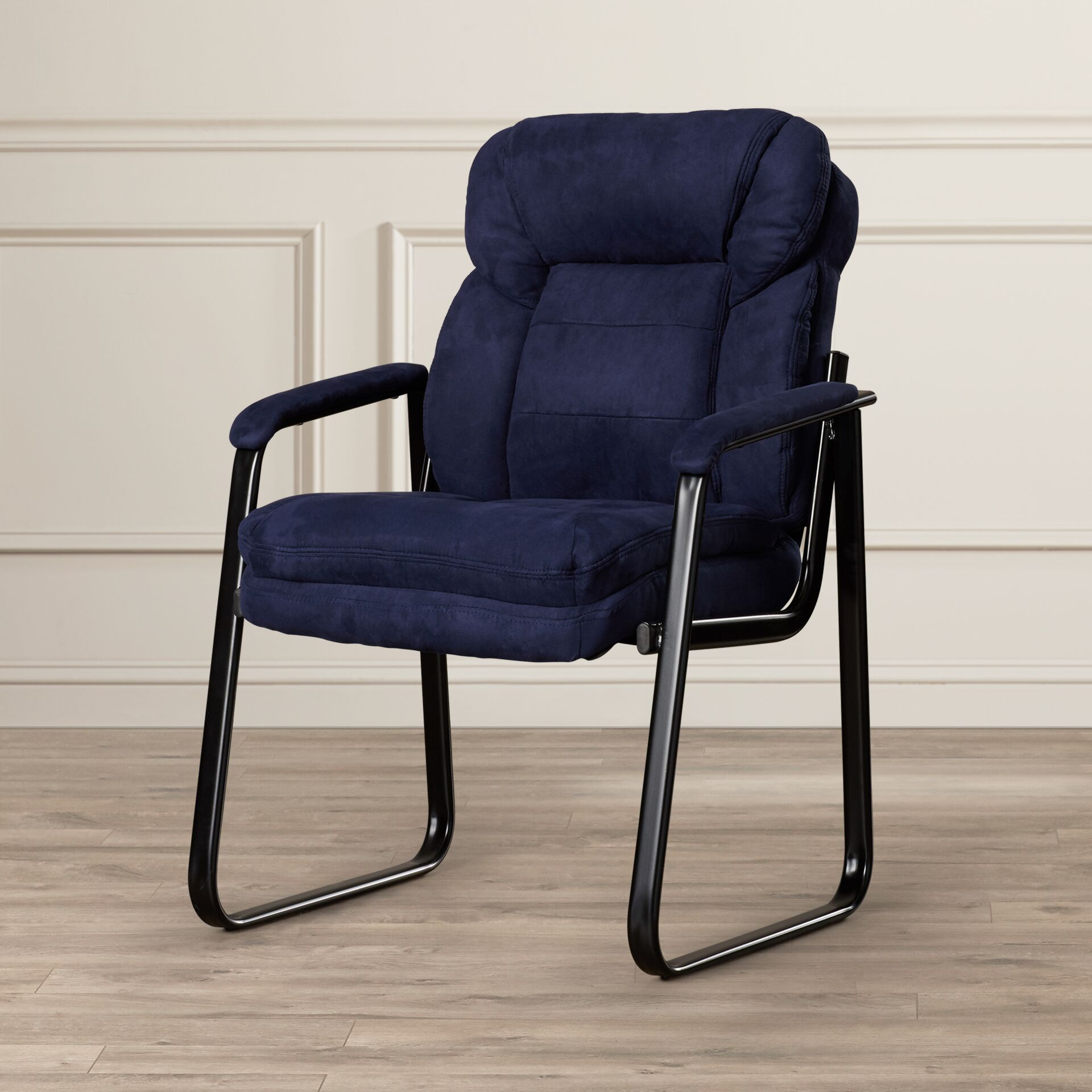 Coyne Executive Guest Chair Upholstery: Blue Microfiber