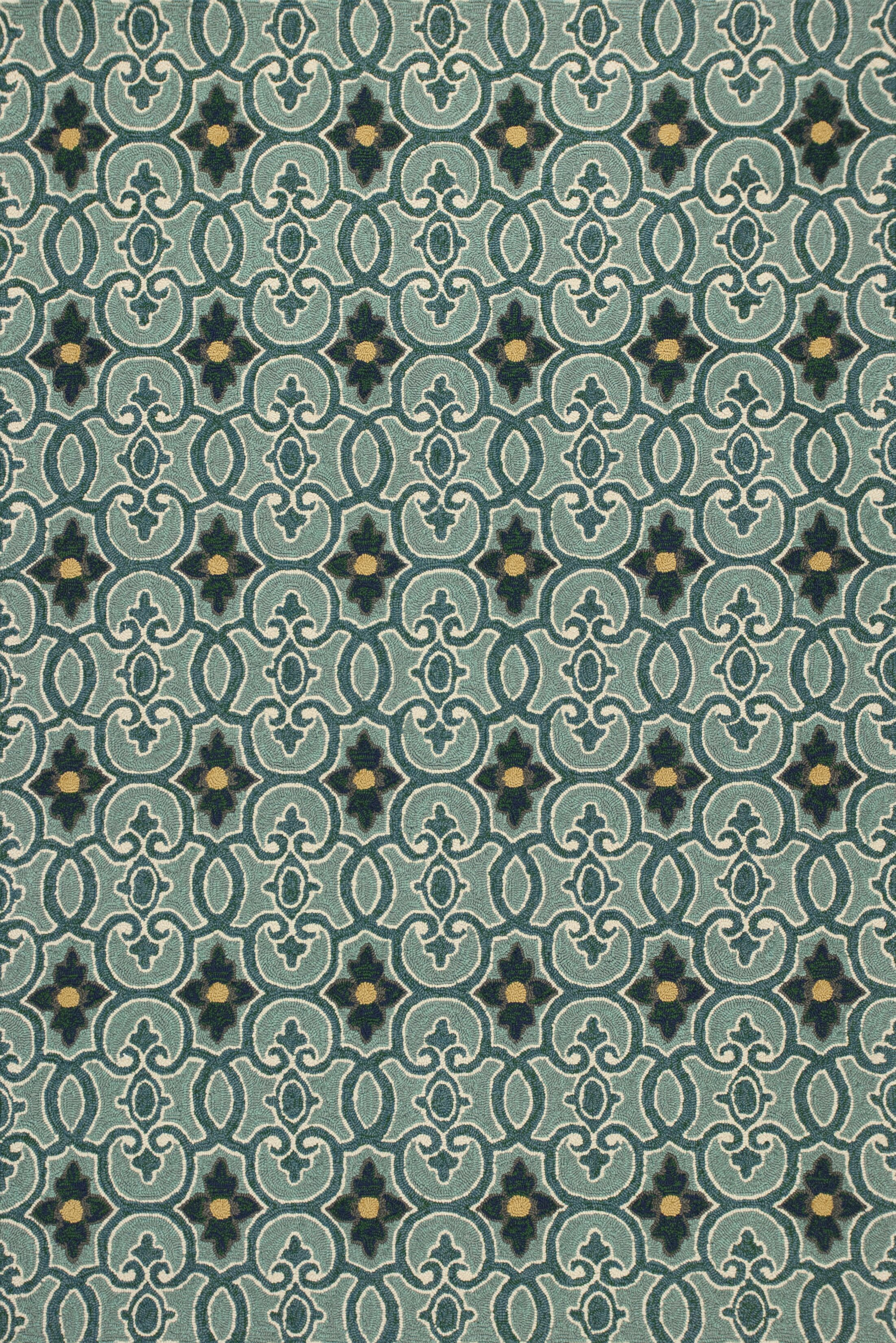 Edinburgh Handmade Teal Indoor/Outdoor Area Rug Rug Size: Rectangle 5' x 7'6