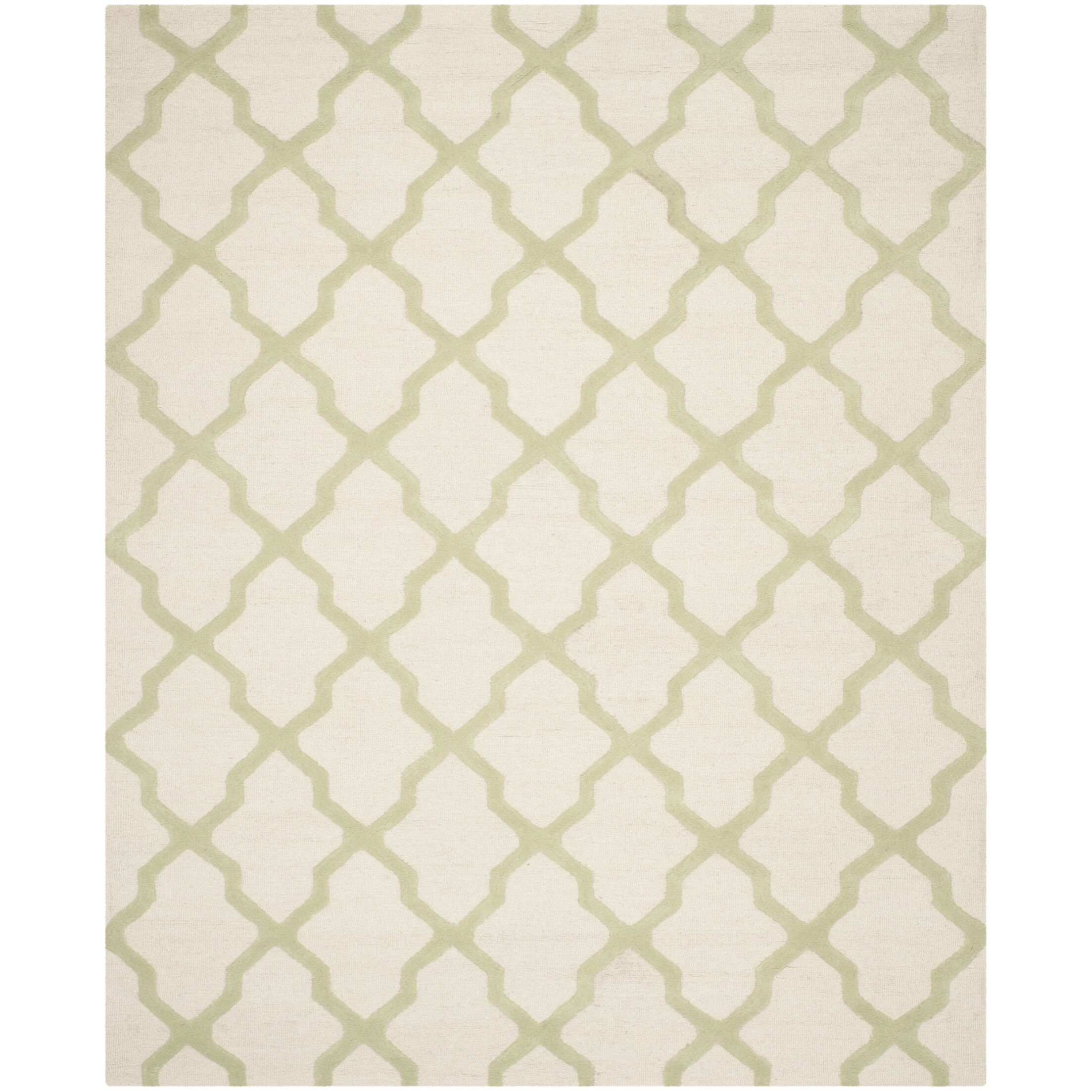Gillam Hand-Tufted Ivory / Light Green Area Rug Rug Size: Rectangle 8' x 10'