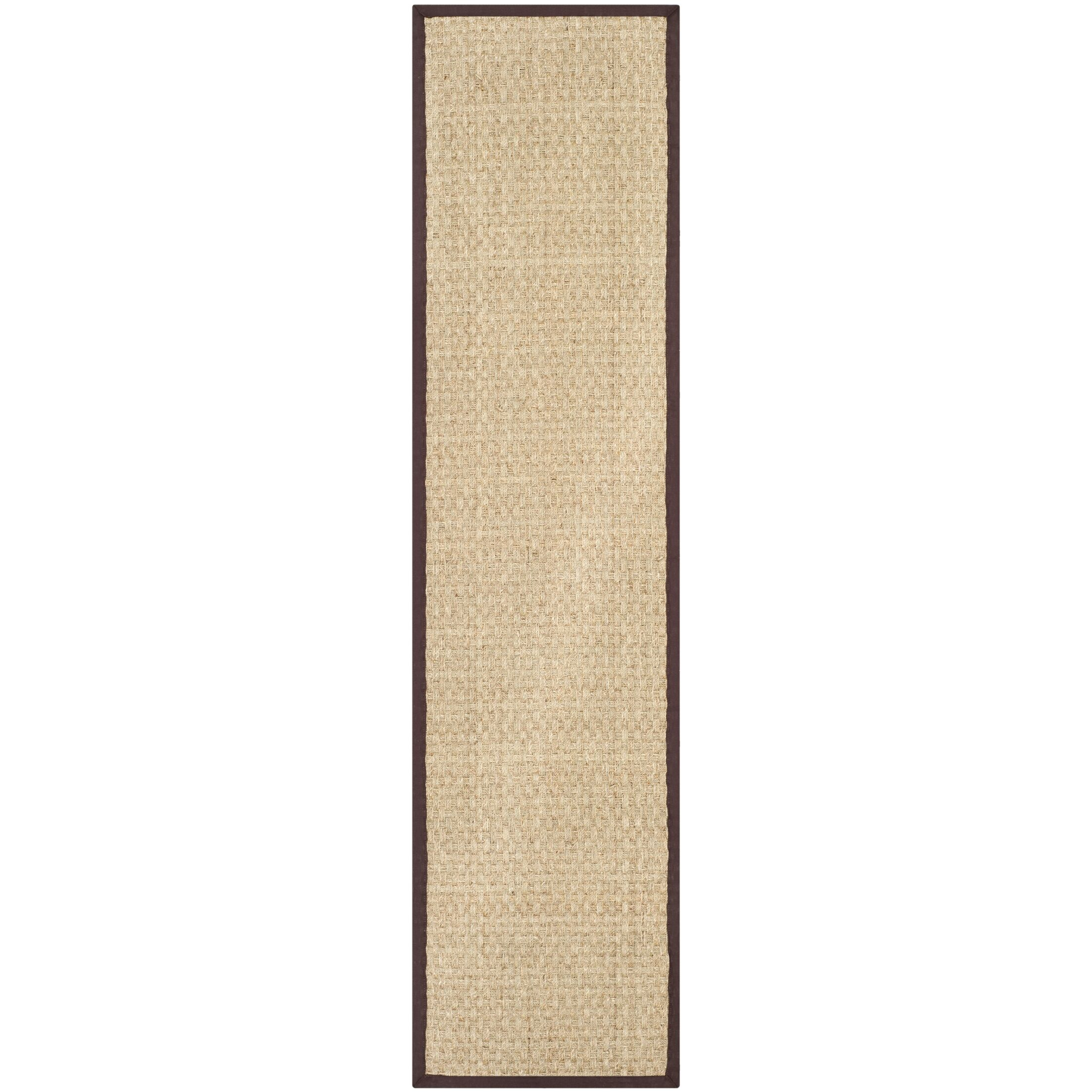 Dufour Hand-Woven Natural/Brown Area Rug Rug Size: Runner 2'6