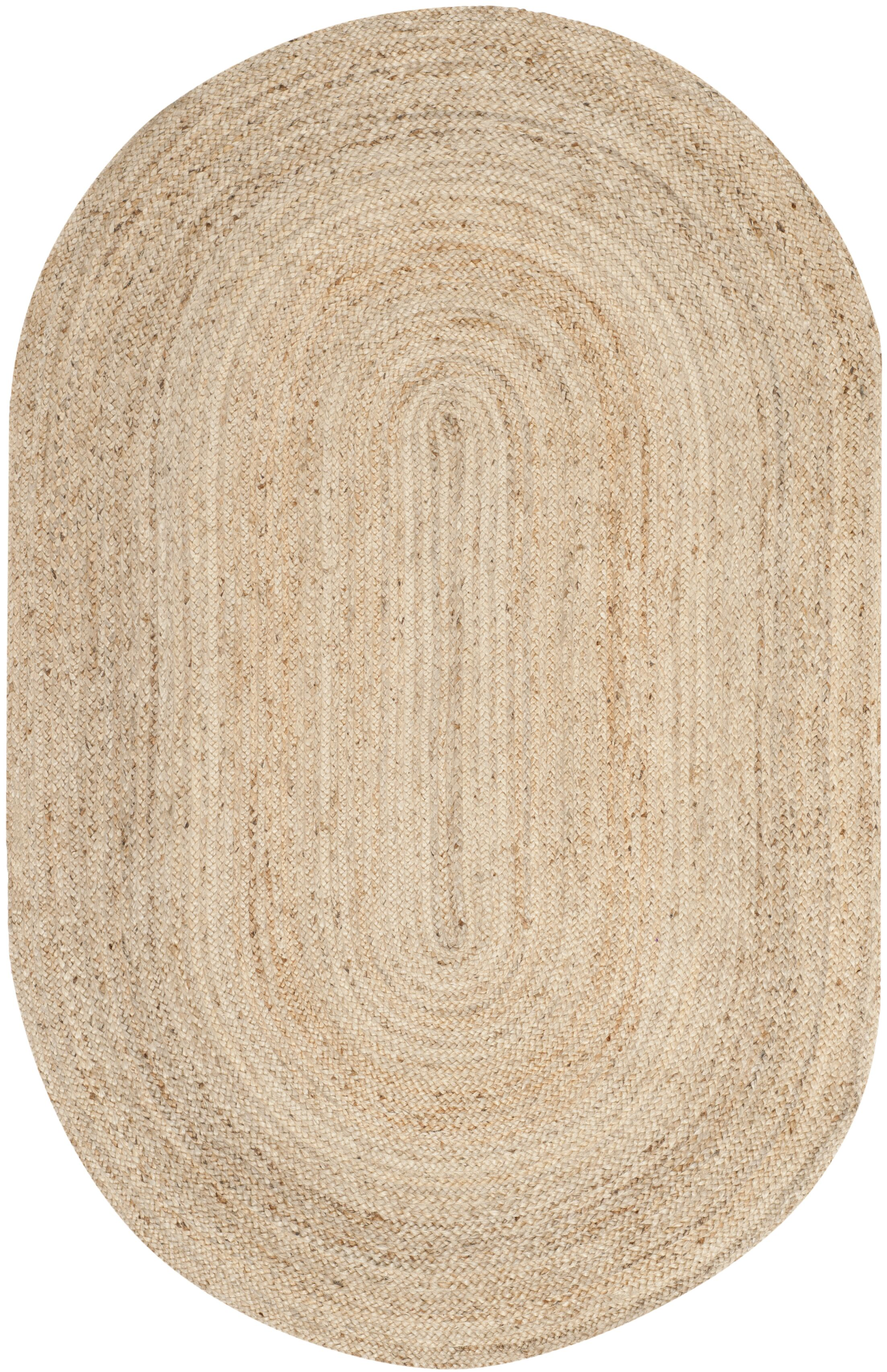 Chatham Hand-Woven Wool Light Tan Area Rug Rug Size: Oval 6' x 9'