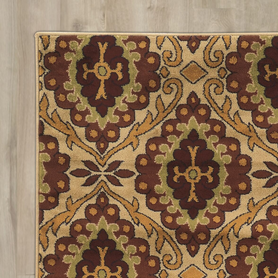Sioux Falls Brown/Beige Area Rug Rug Size: Rectangle 8' x 10'