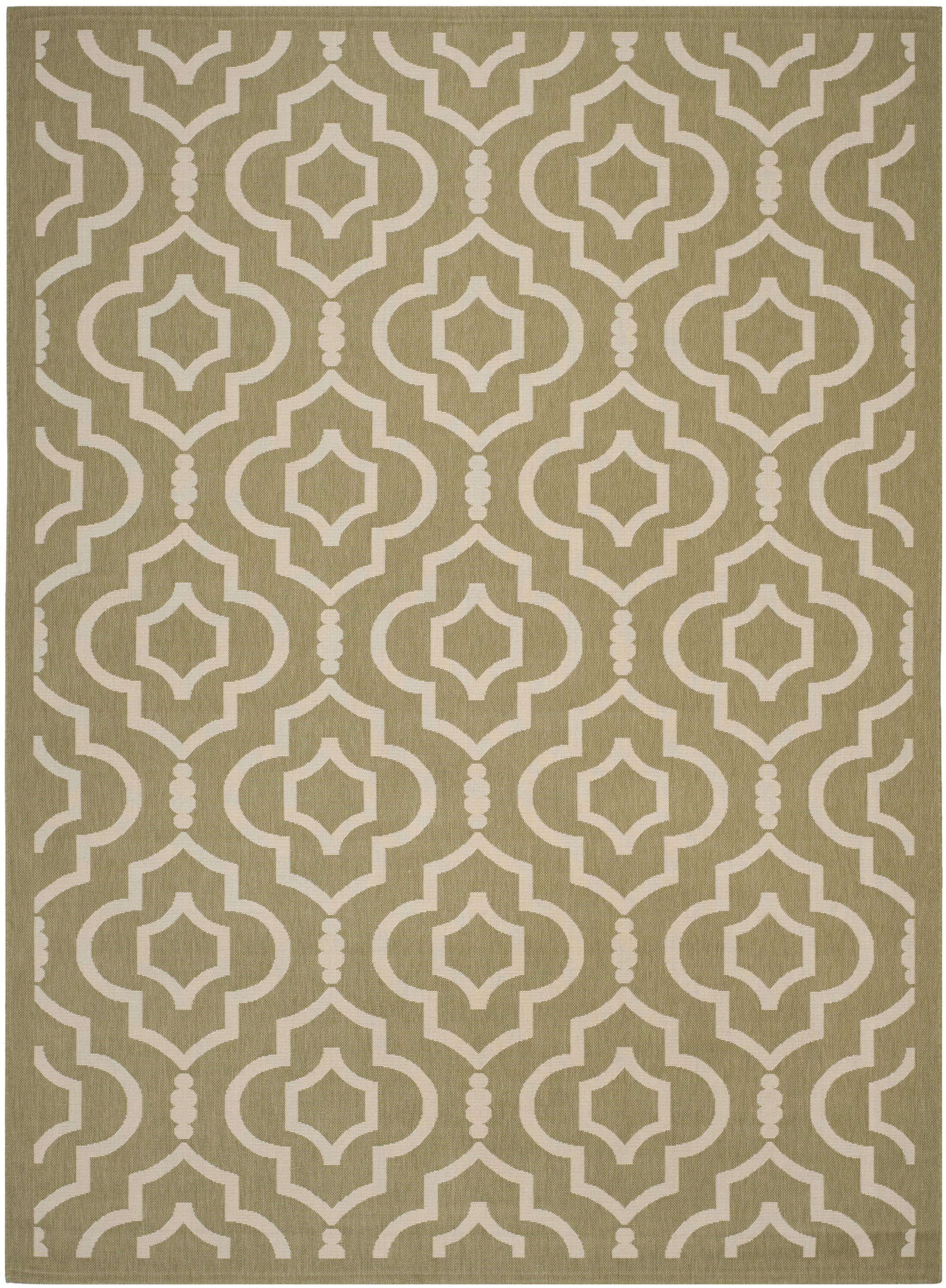Octavius Green/Beige Indoor/Outdoor Area Rug Rug Size: Rectangle 9' x 12'