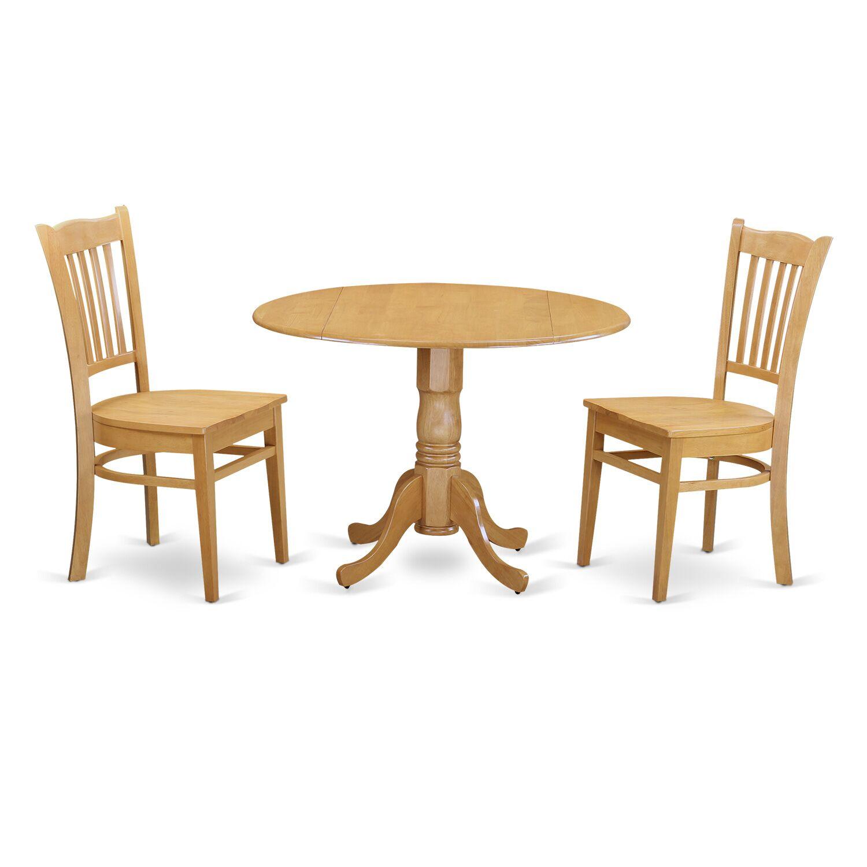 Gloucester 3 Piece Dining Set Finish: Oak