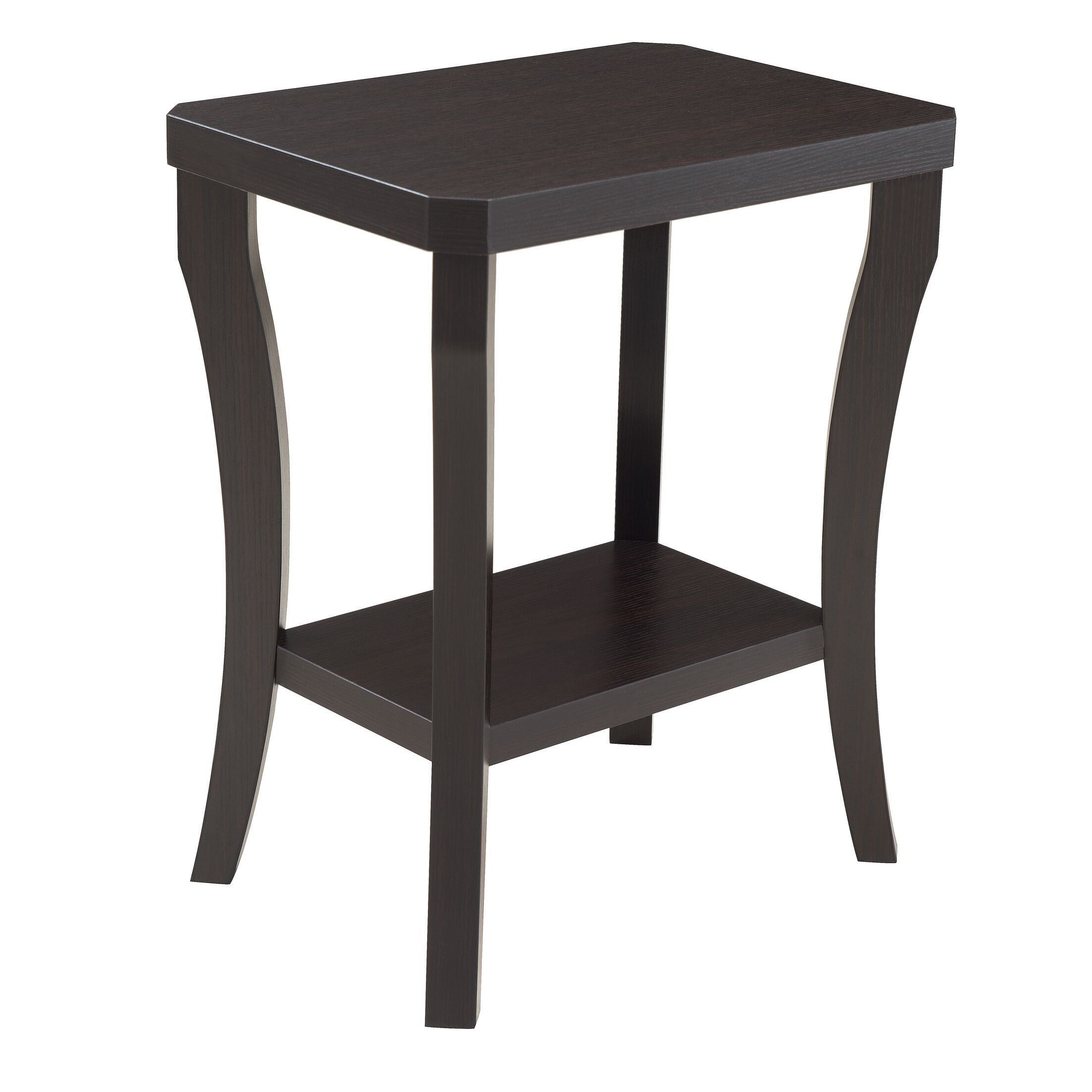 Simmons Casegoods Gabbard Chairside Table Color: Merlot