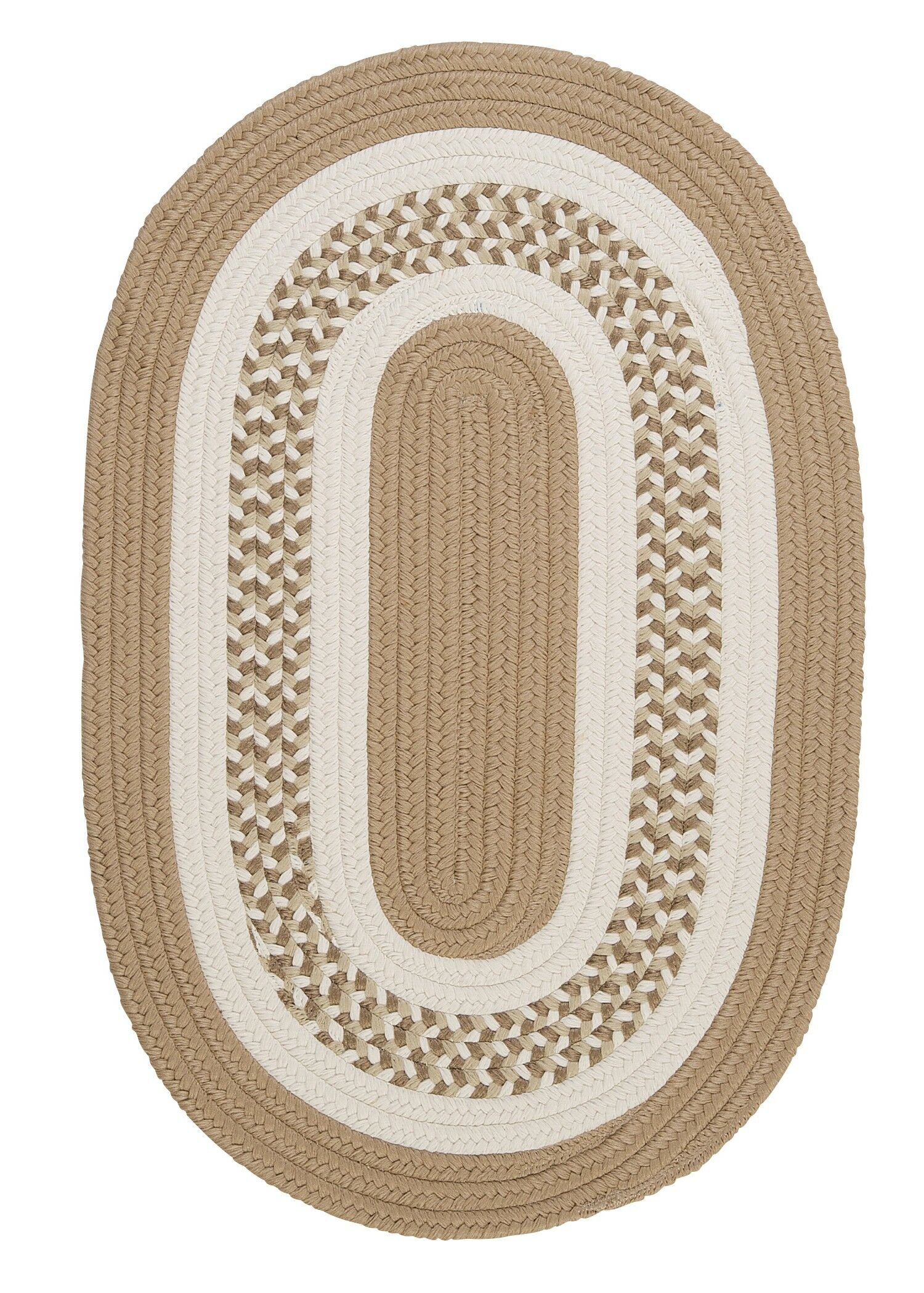 Germain Cuban Sand/Beige Area Rug Rug Size: Oval Runner 2' x 10'