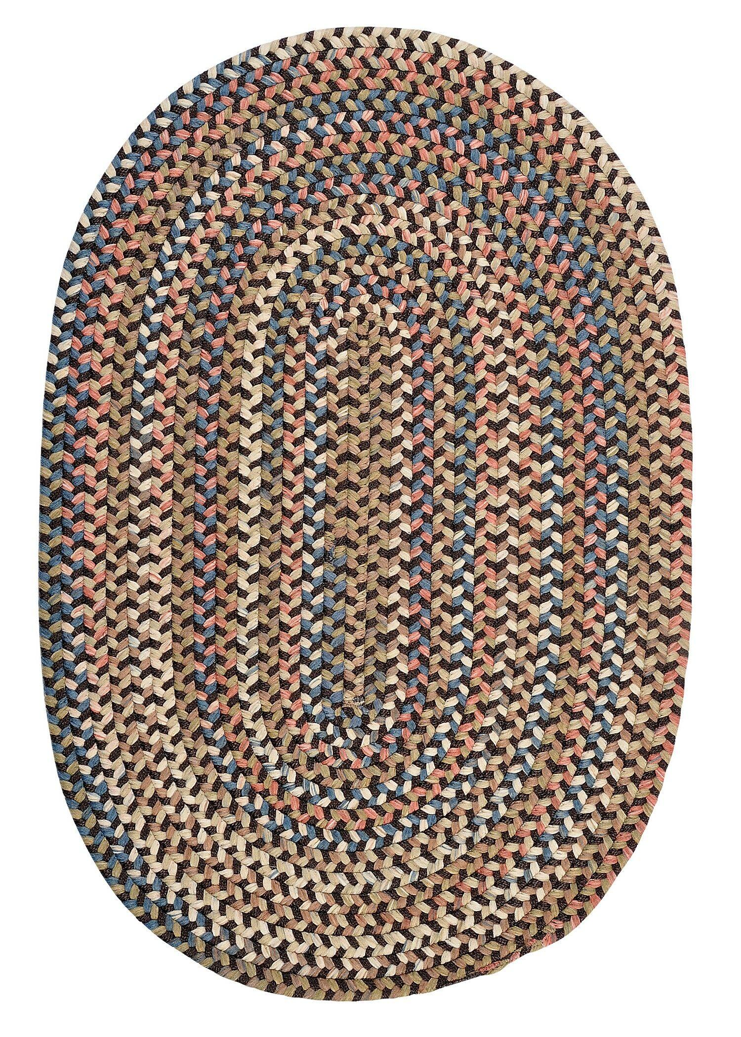Kipton Dark Brown Area Rug Rug Size: Oval 12' x 15'
