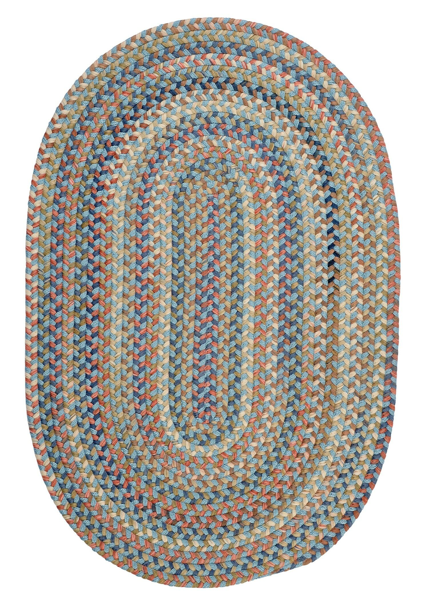 Kipton Light Blue Area Rug Rug Size: Rectangle 2' x 3'