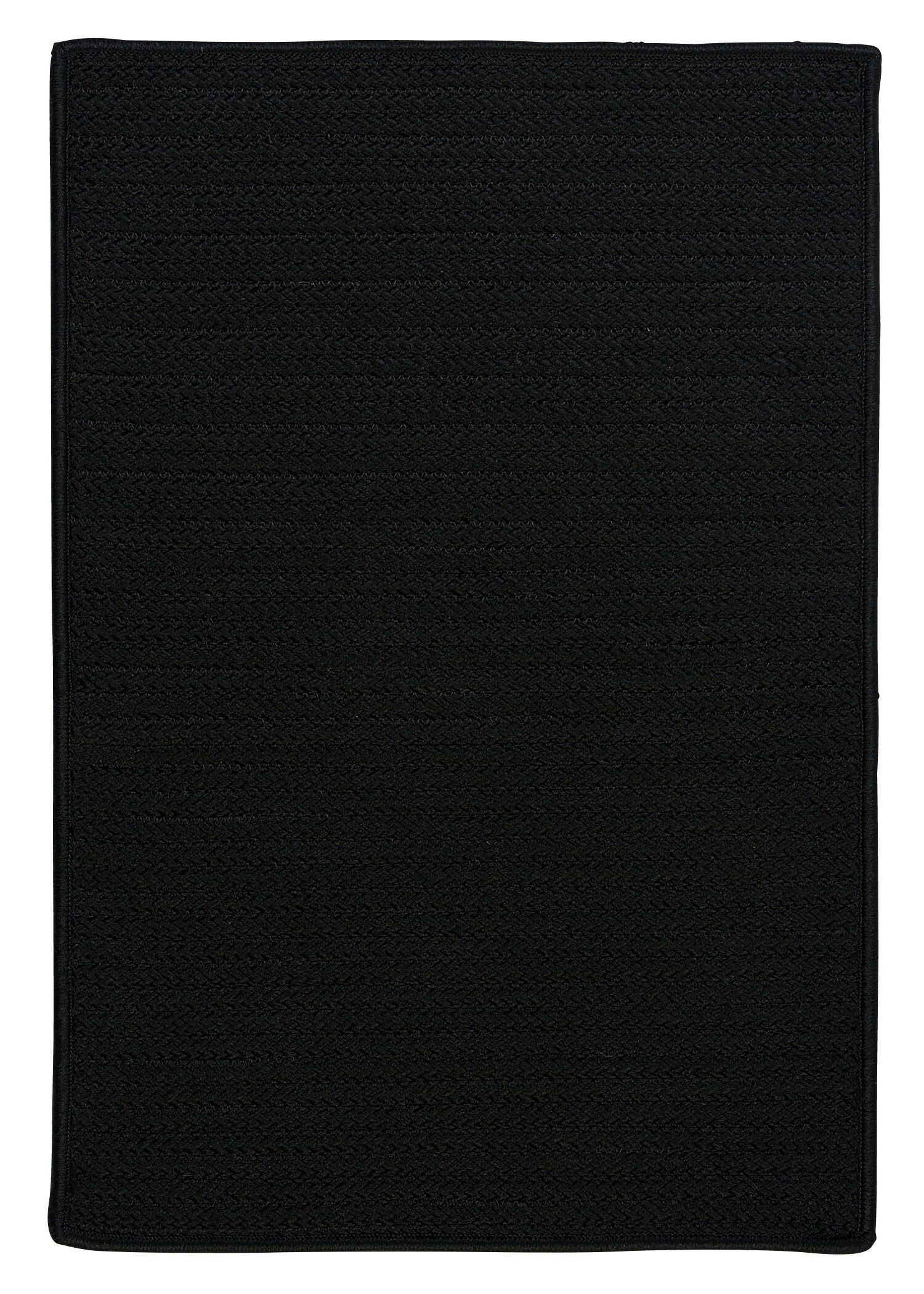 Glasgow Black Indoor/Outdoor Area Rug Rug Size: Square 4'