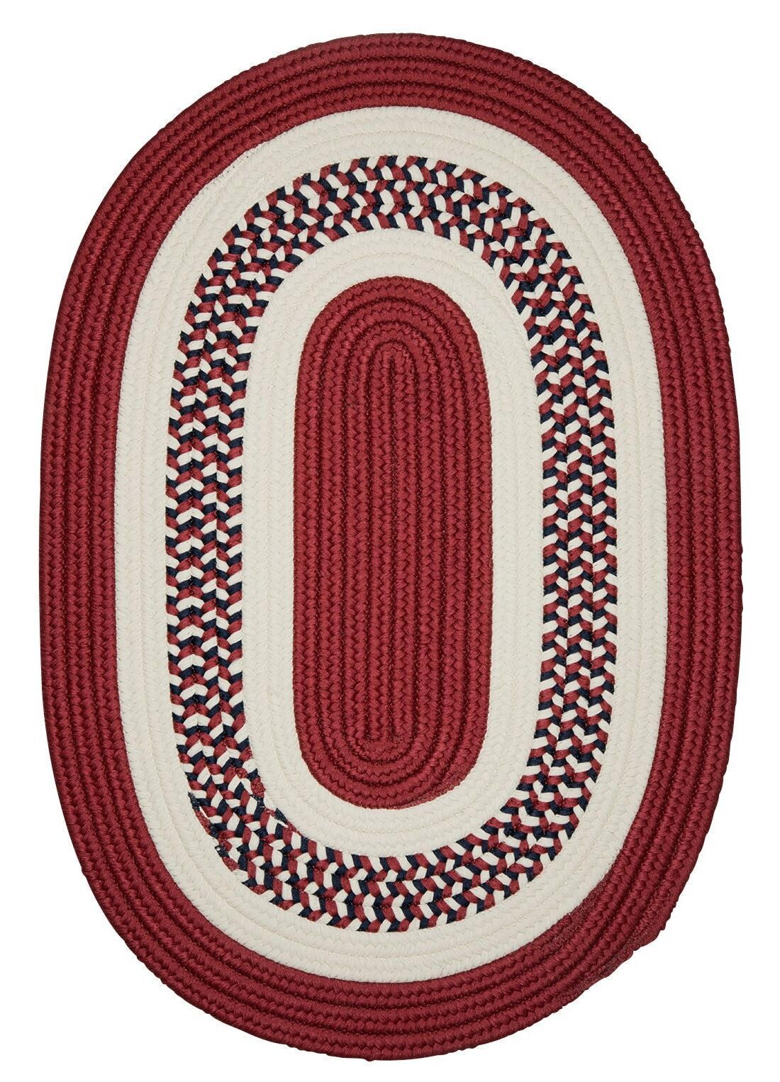 Germain Red Area Rug Rug Size: Oval 10' x 13'