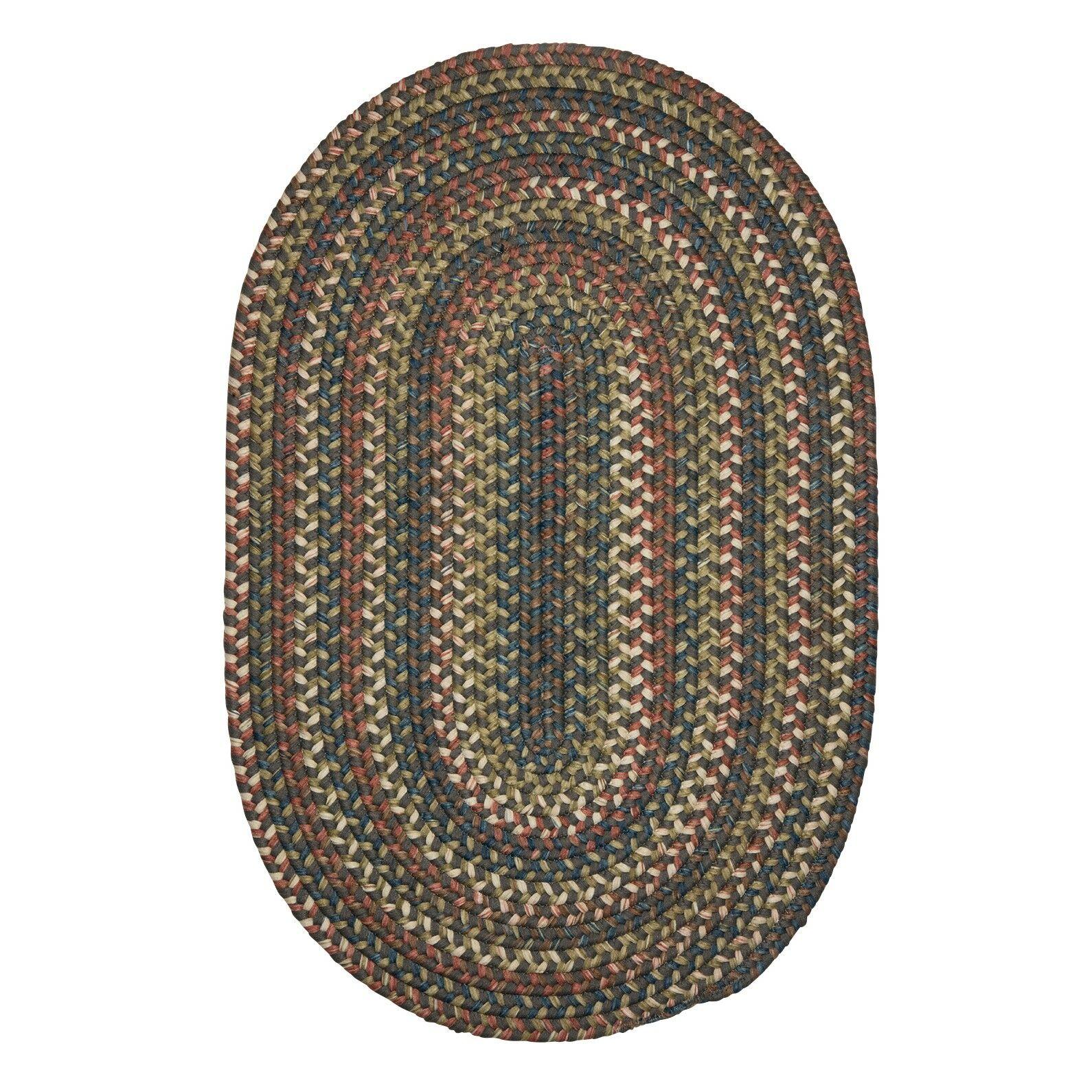 Kipton Gray Area Rug Rug Size: Oval 4' x 6'