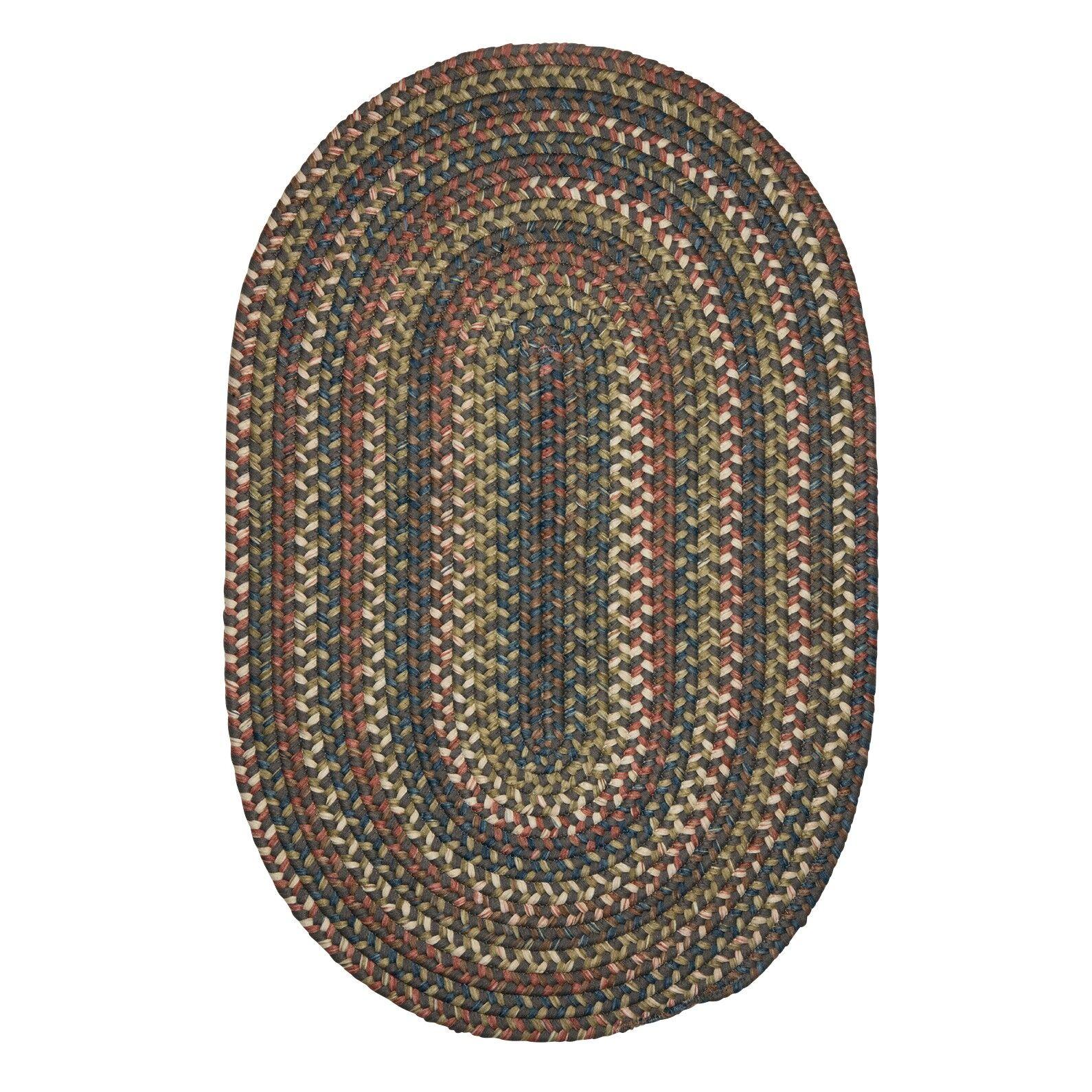 Kipton Gray Area Rug Rug Size: Oval 5' x 8'