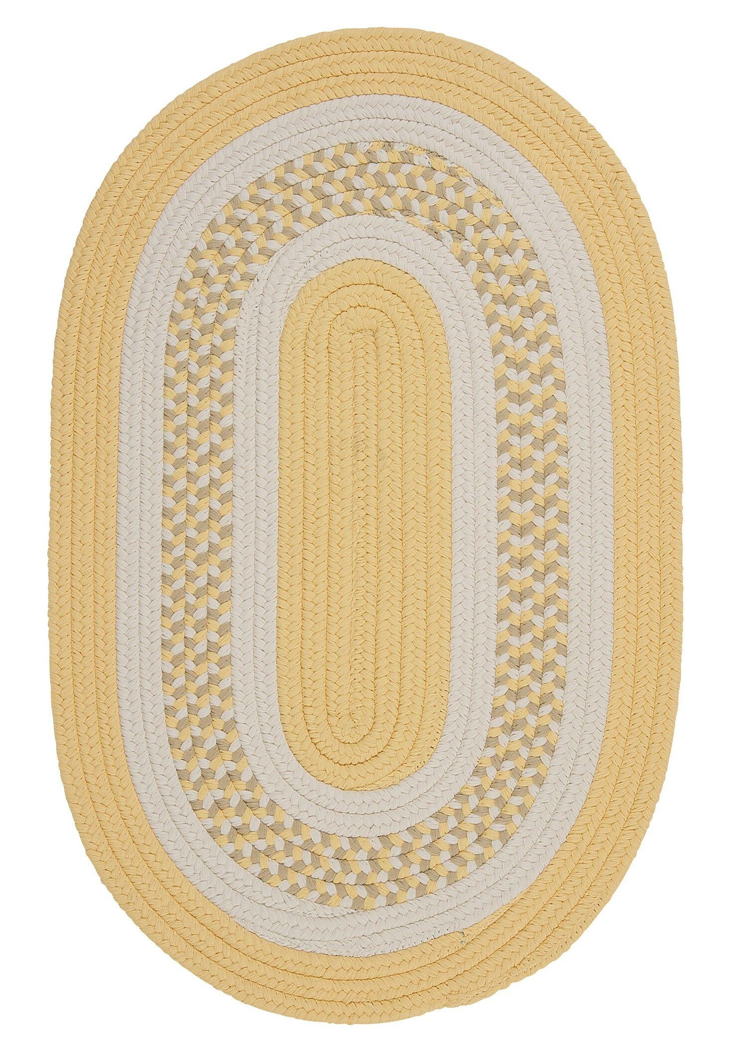 Germain Yellow/Gray Indoor/Outdoor Area Rug Rug Size: Round 6'