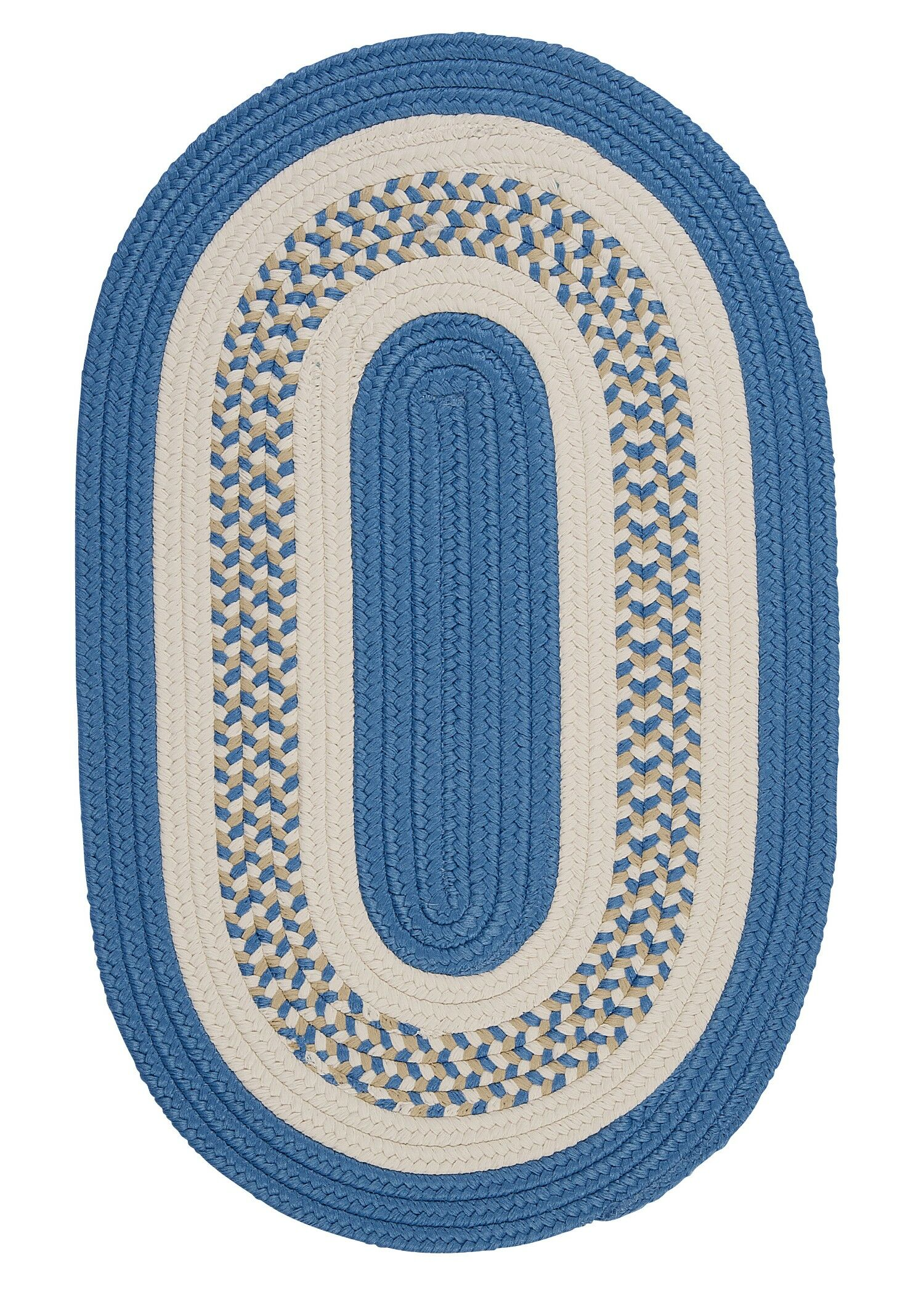 Germain Blue/Beige Indoor/Outdoor Area Rug Rug Size: Oval 3' x 5'