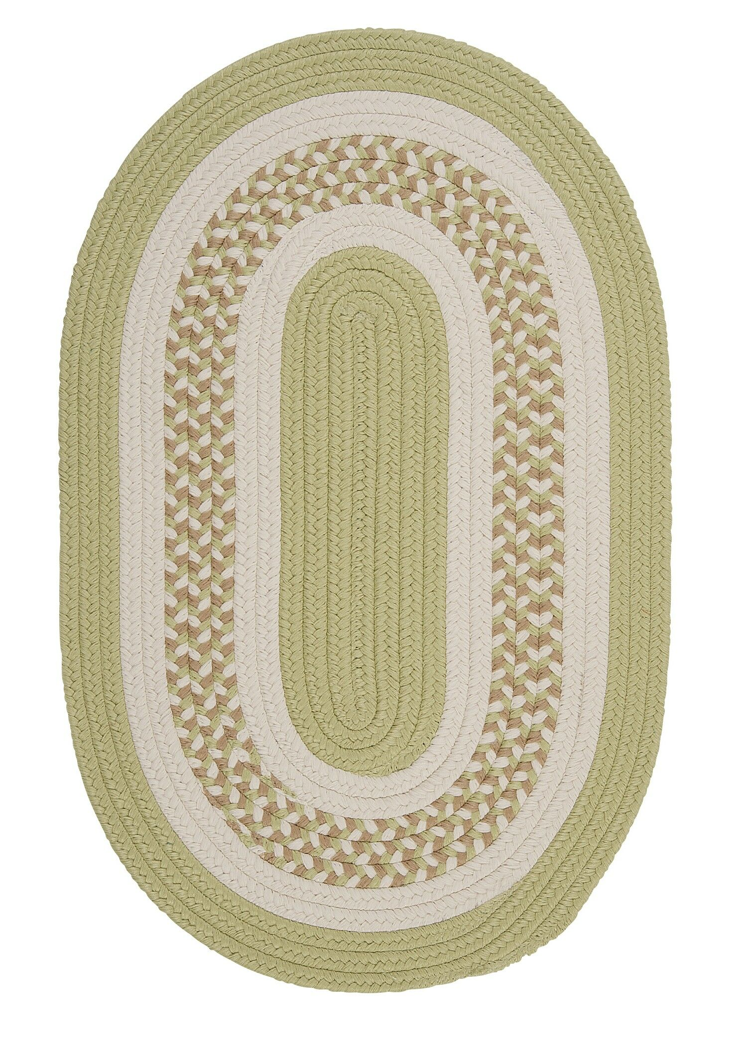 Germain Light Green/Beige Indoor/Outdoor Area Rug Rug Size: Oval 12' x 15'
