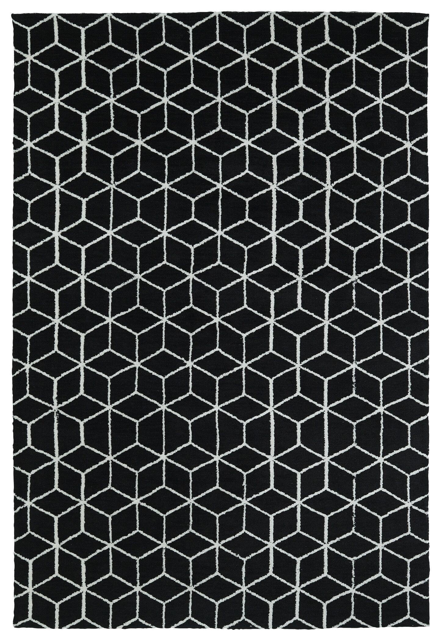 Gannaway Black Area Rug Rug Size: Rectangle 5' x 7'