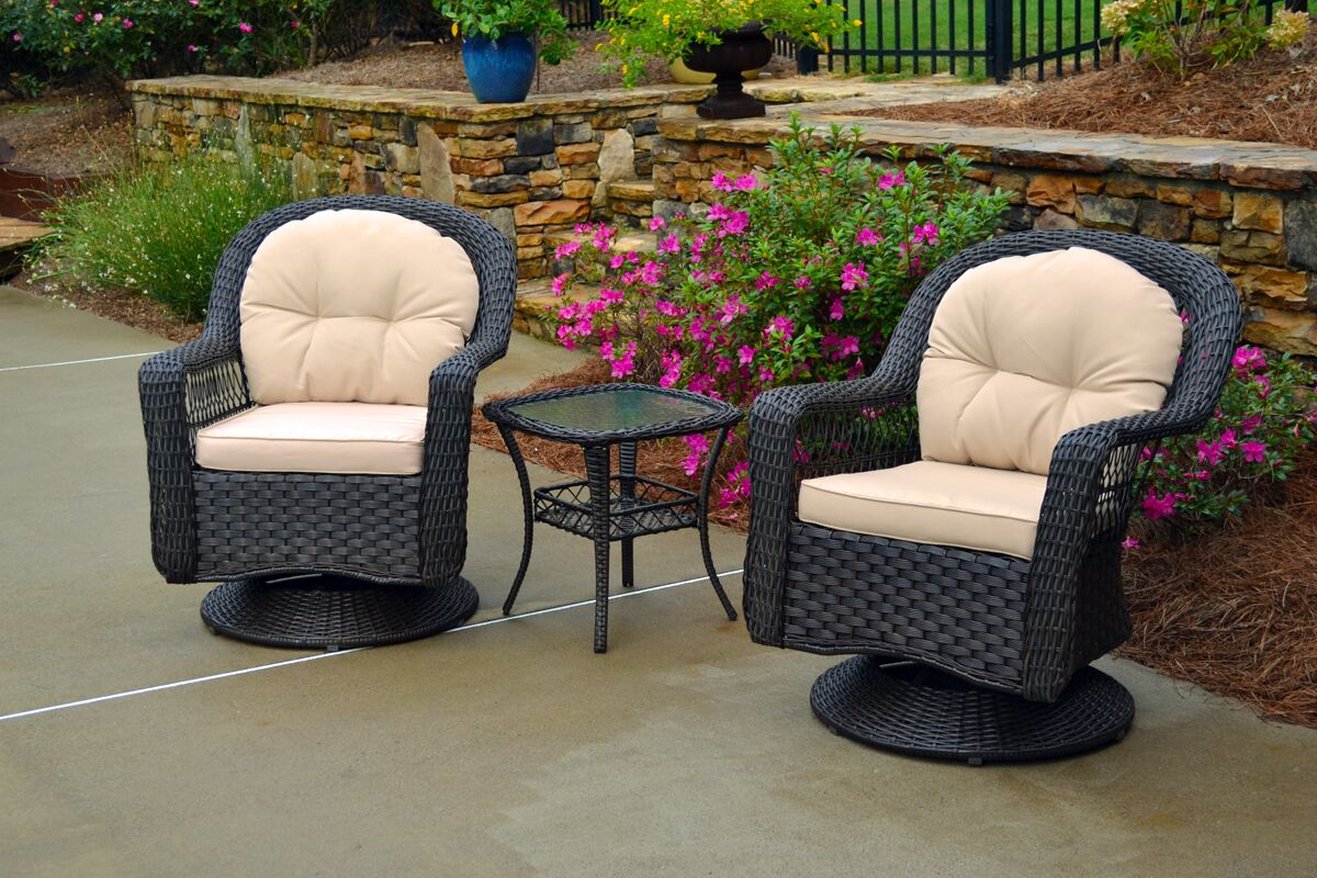 Gleeson 3 Piece Conversation Set with Cushions Color: Espresso