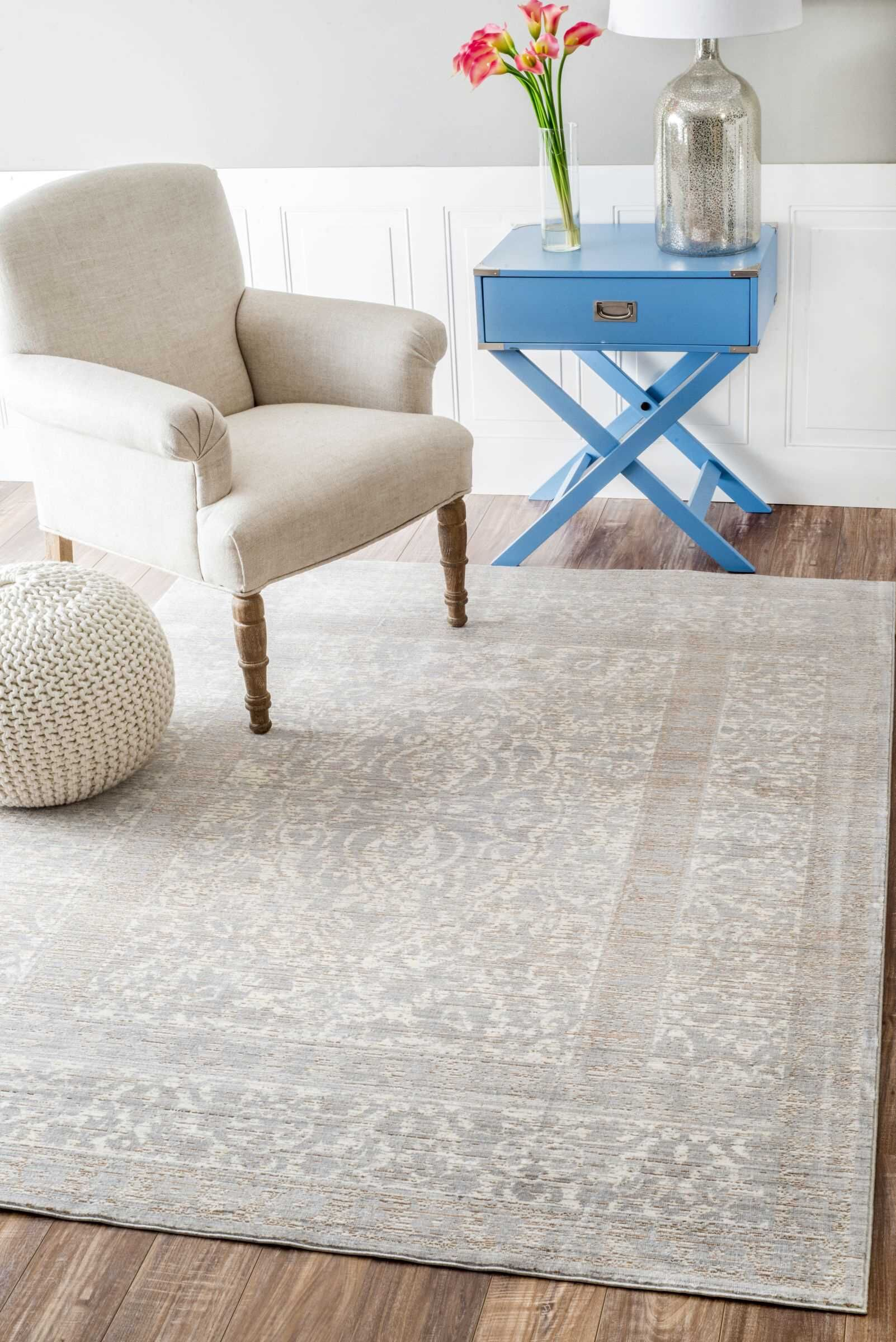 Dorothea Gray Indoor Area Rug Rug Size: Rectangle 9' x 12'