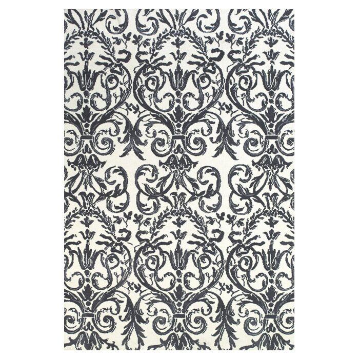 Cobden Slate / White Rug Rug Size: Rectangle 3'6
