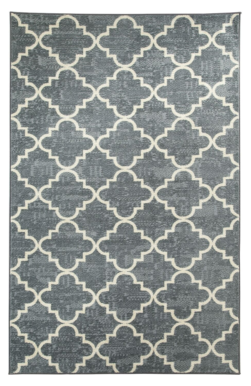 Cambridgeshire Fancy Trellis Gray/White Area Rug Rug Size: 8' x 10'