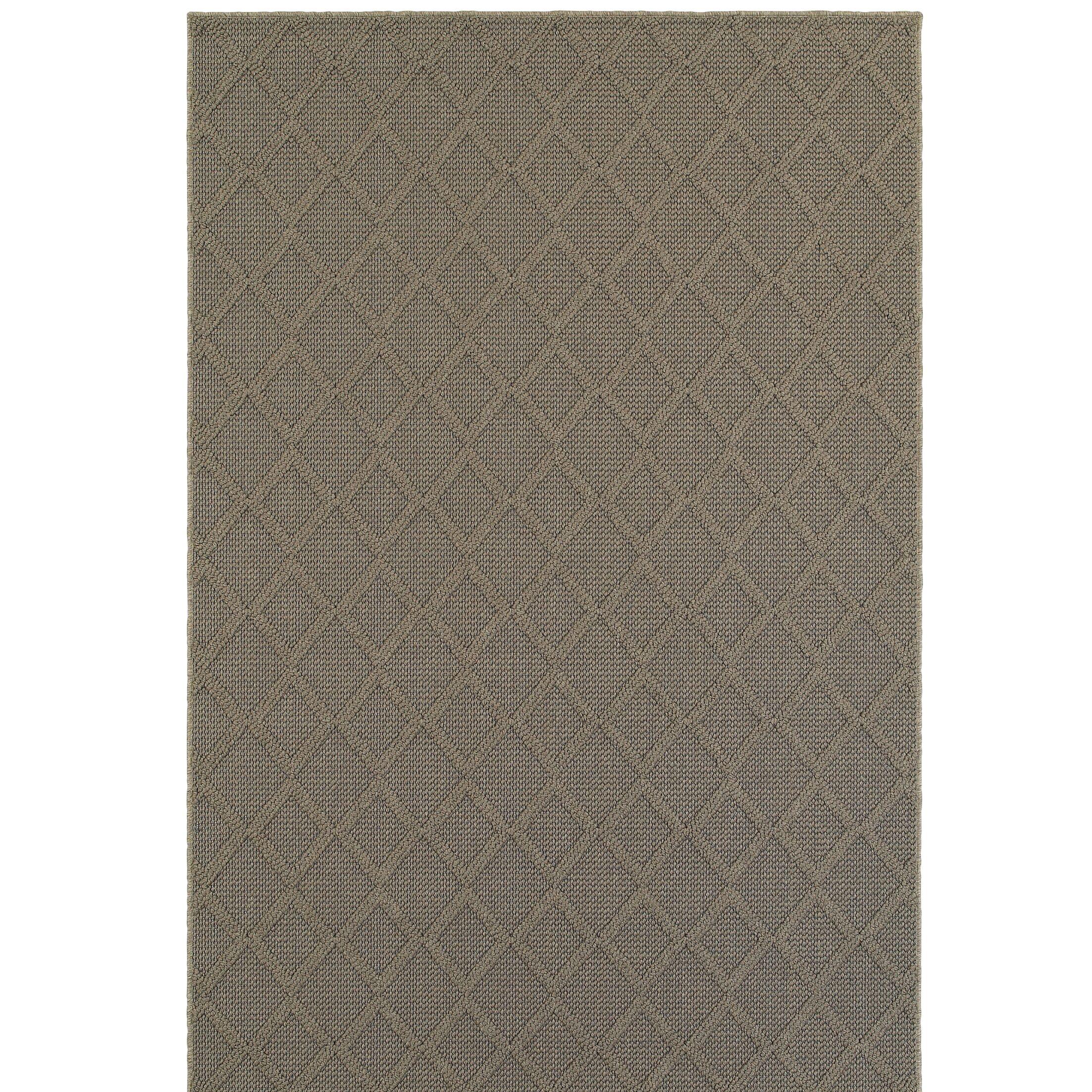 Carrow Gray Indoor/Outdoor Area Rug Rug Size: Rectangle 9'10