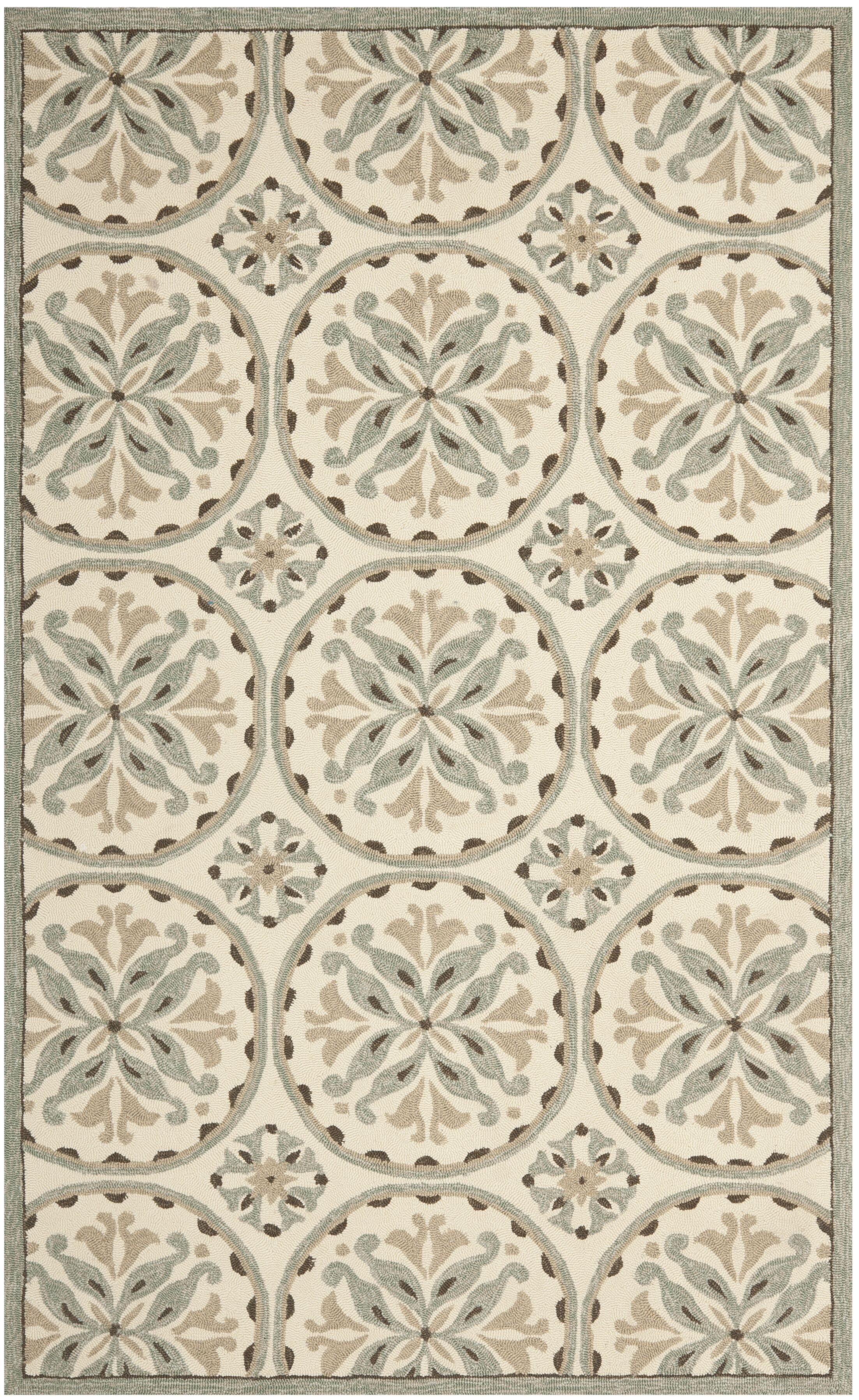 Carvalho Green/Brown Outdoor Area Rug Rug Size: Rectangle 3'6