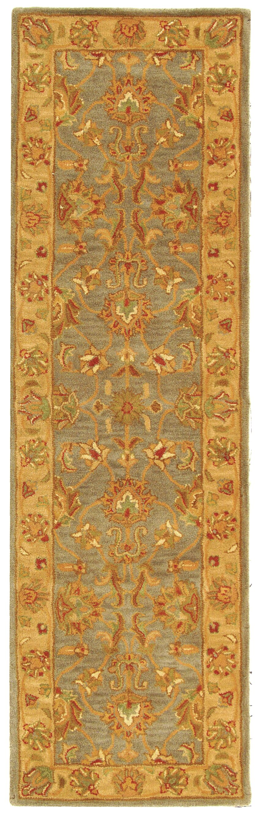 Cranmore Hand-Tufted Wool Blue/Beige Area Rug Rug Size: Runner 2'3