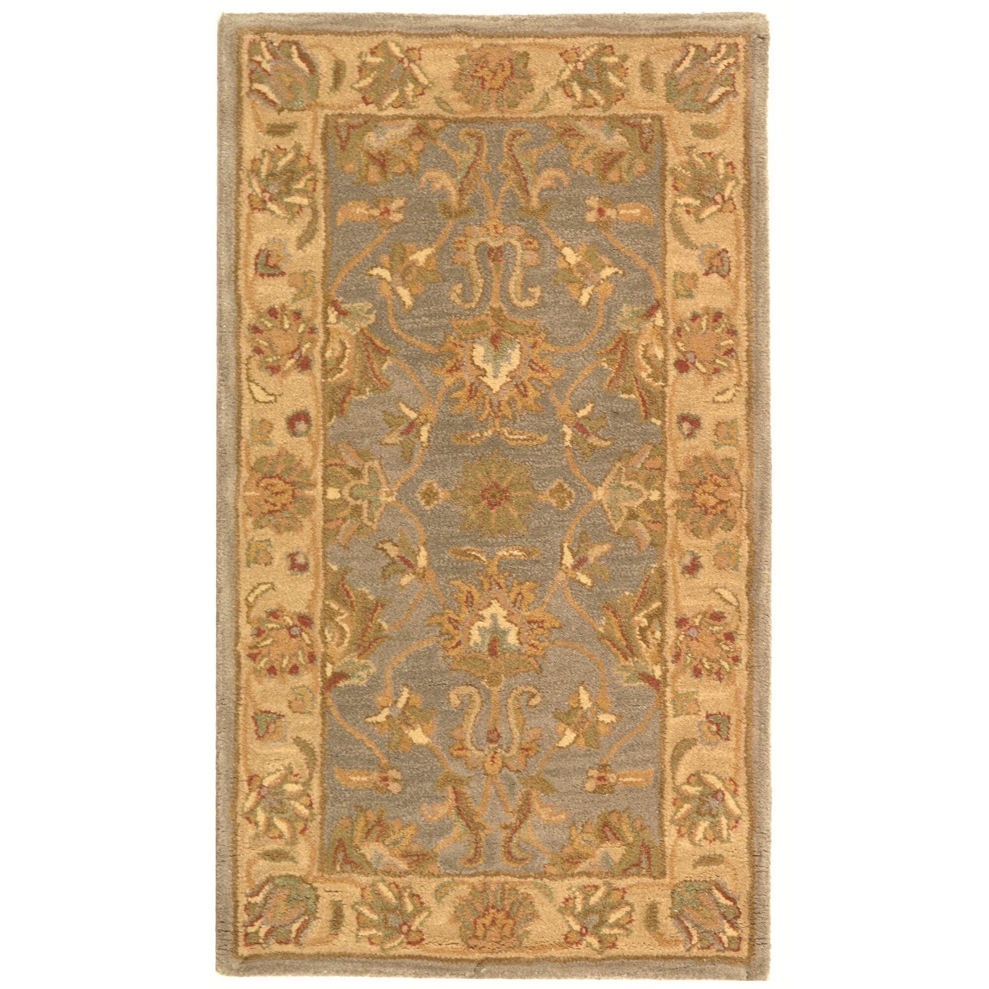 Cranmore Hand-Tufted Wool Blue/Beige Area Rug Rug Size: Rectangle 9'6