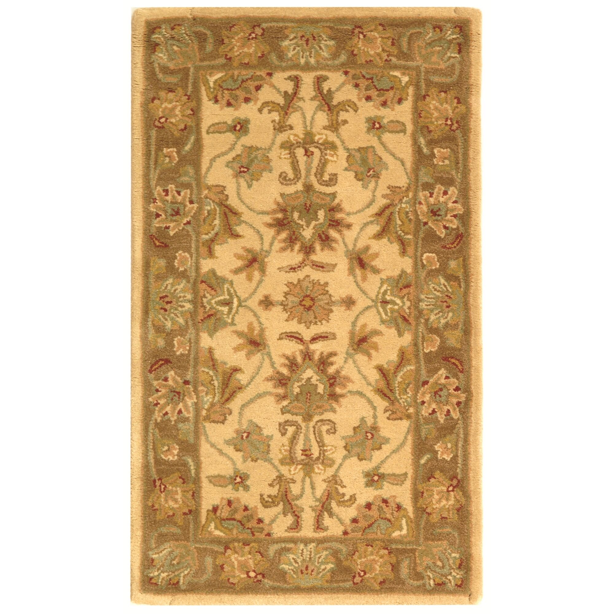 Cranmore Ivory/Brown Area Rug Rug Size: Rectangle 3' x 5'